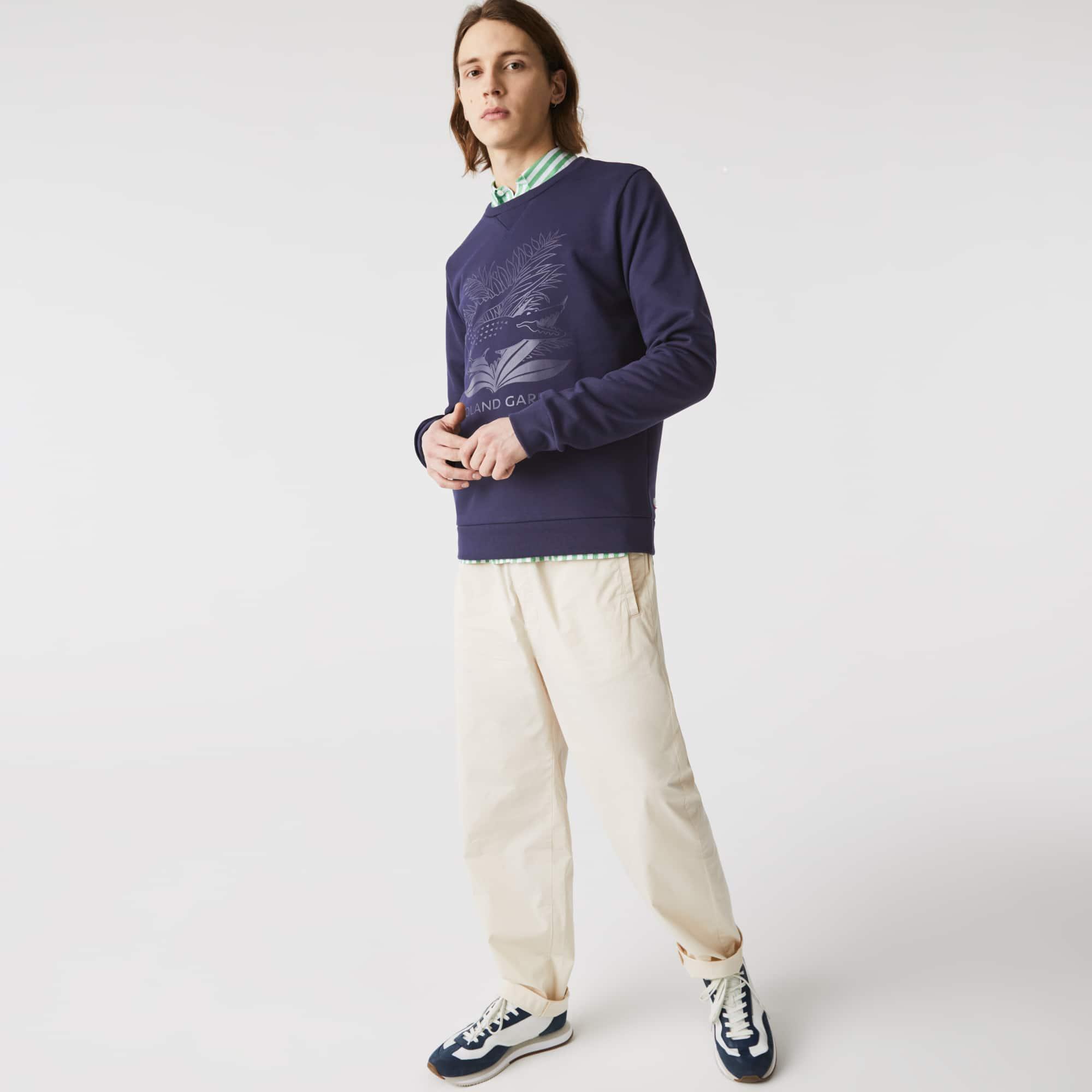 라코스테 스포츠 롤랑가로스 맨투맨 Lacoste Mens SPORT Roland Garros Plant Print Sweatshirt
