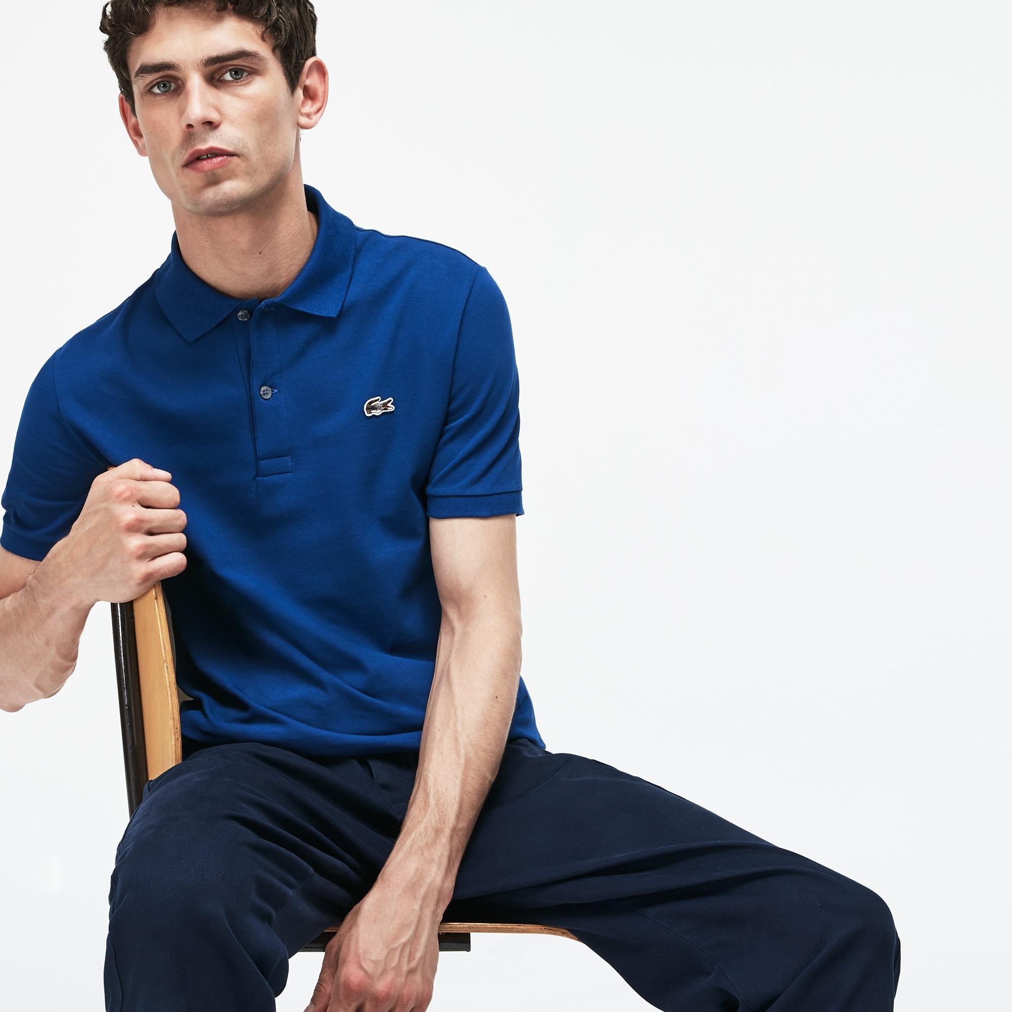 Men's Lacoste Slim Fit Stretch Mini Piqué Polo
