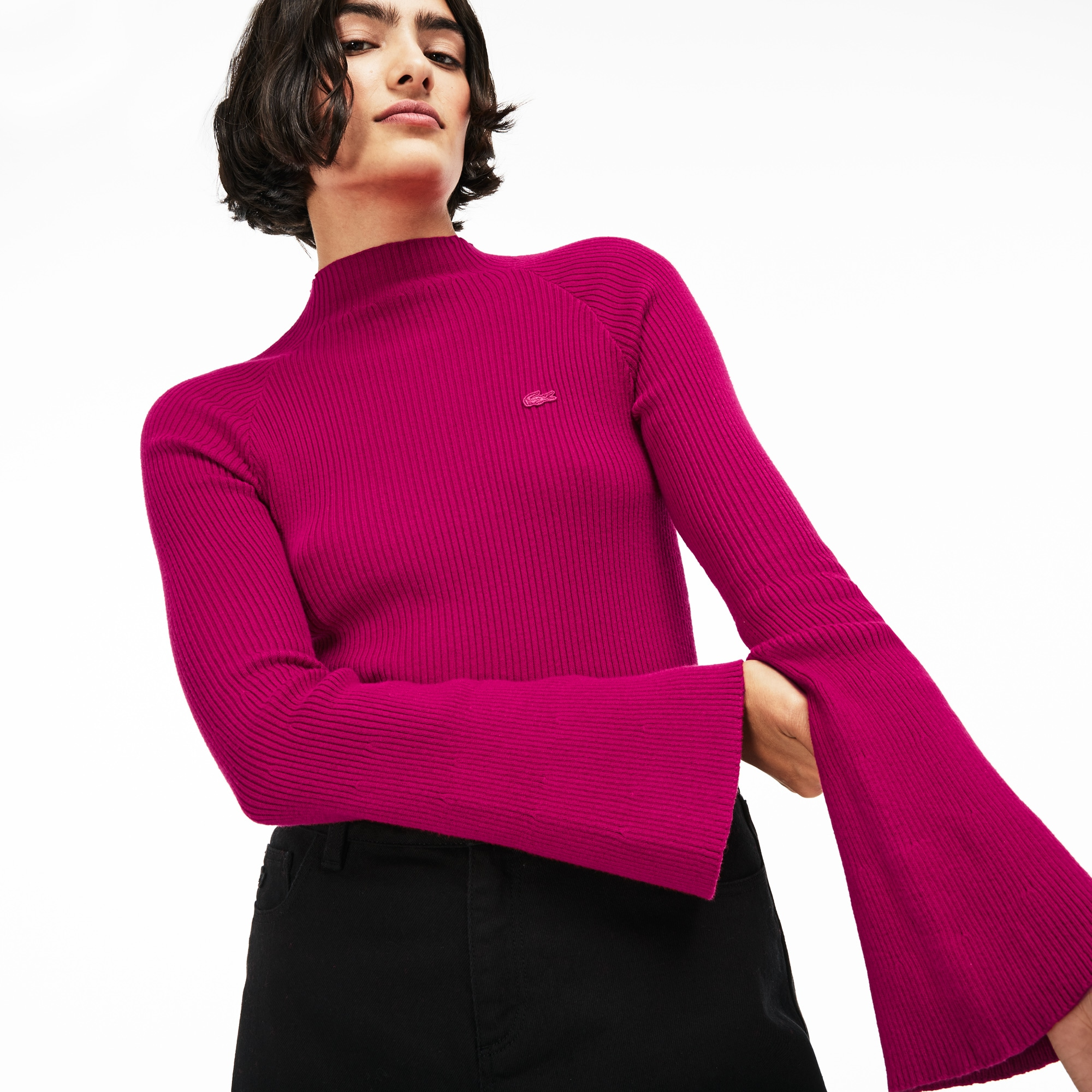 Women's LIVE Ribbed Cotton And Cashmere Sweater