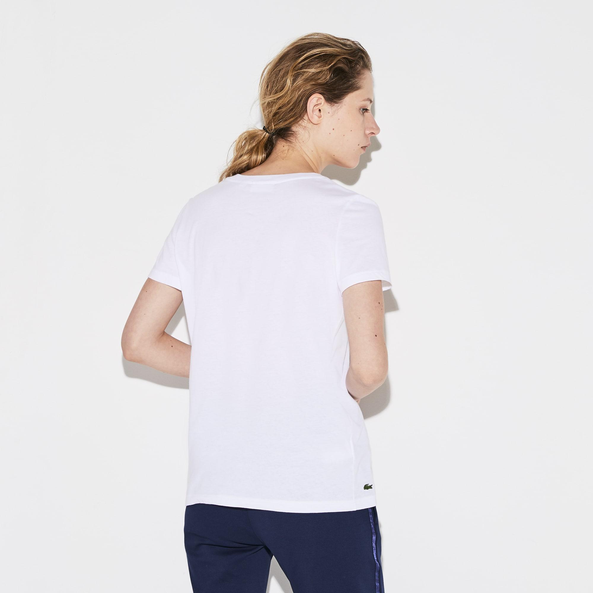 LACOSTE Cottons Women's SPORT Flowing Cotton Tennis T-shirt