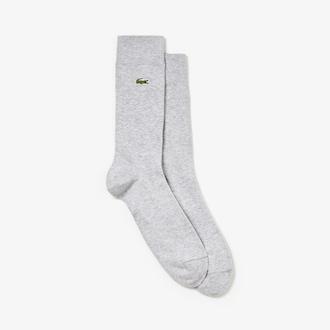라코스테 Lacoste Mens Jersey Socks,Grey Chine - CCA