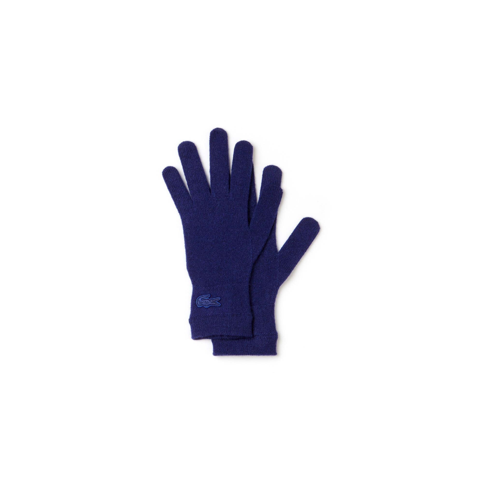 라코스테 장갑 Lacoste Womens Cashmere Jersey Gloves With Contrast Stripe,METHYLENE