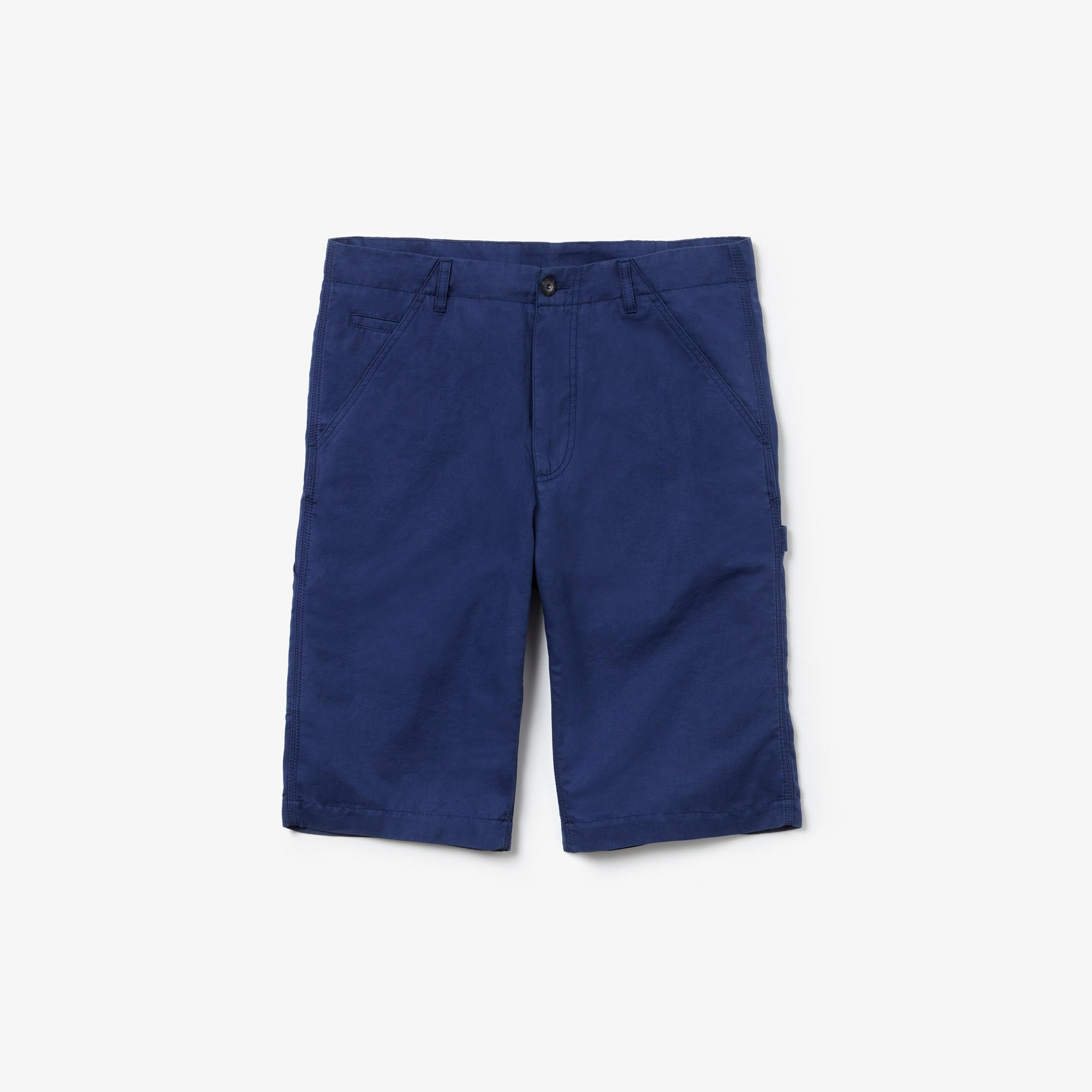 Men's Regular Fit Cotton And Linen Shorts