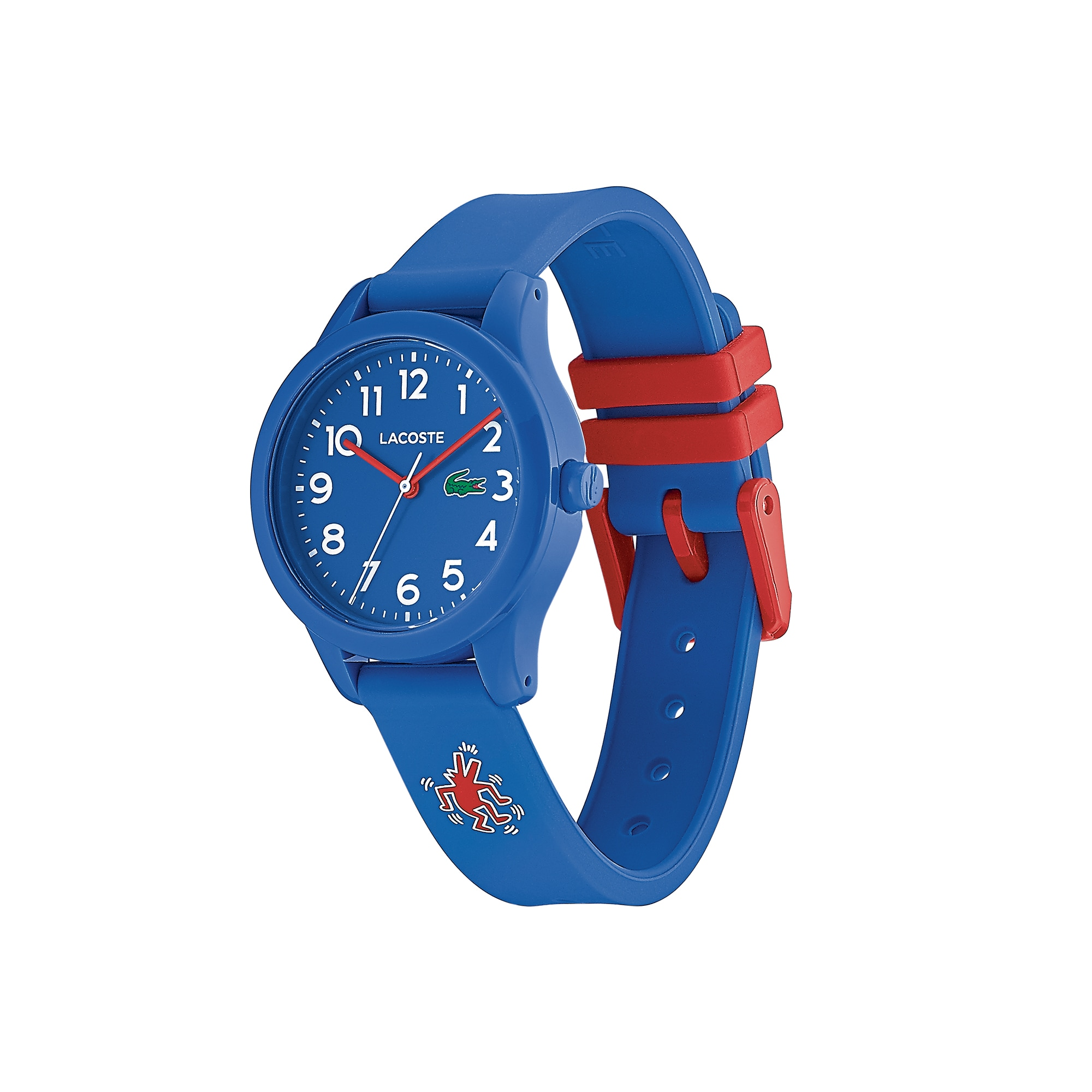 Kids Lacoste.12.12 Watch with Blue Silicone Keith Haring Print