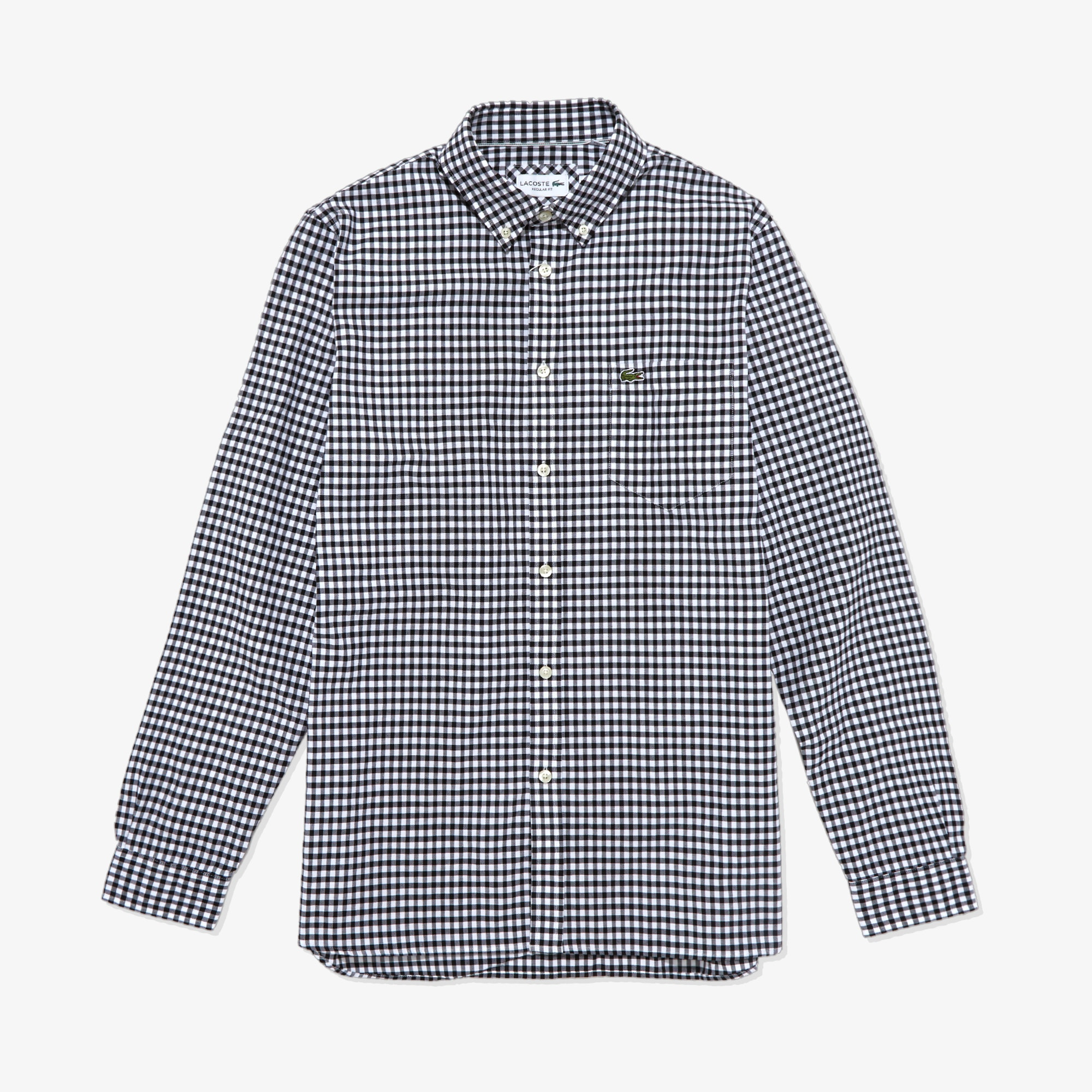 라코스테 Lacoste Mens Regular Fit Cotton Shirt