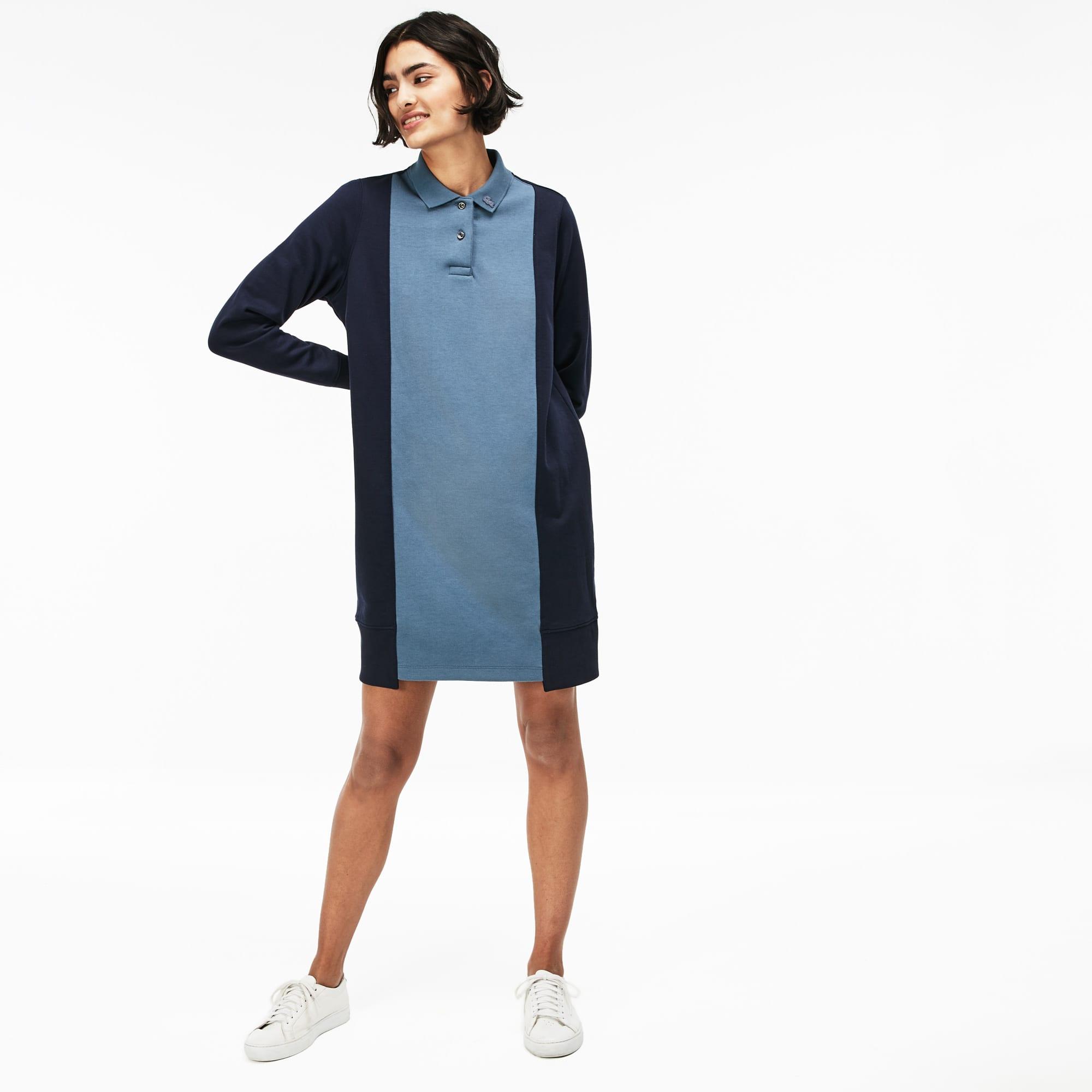 Women's LIVE Contrast Panels Fleece Polo Dress