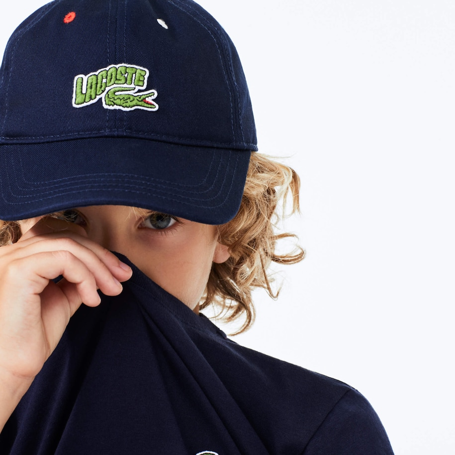 Boys' Wave-Logo Cotton Cap