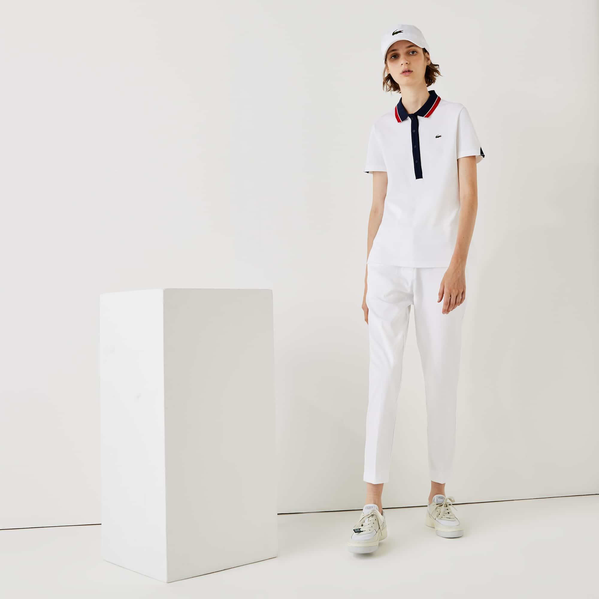 라코스테 스포츠 골프 퍼포먼스 팬츠 - 화이트 Lacoste Women's SPORT Performance Golf Pants