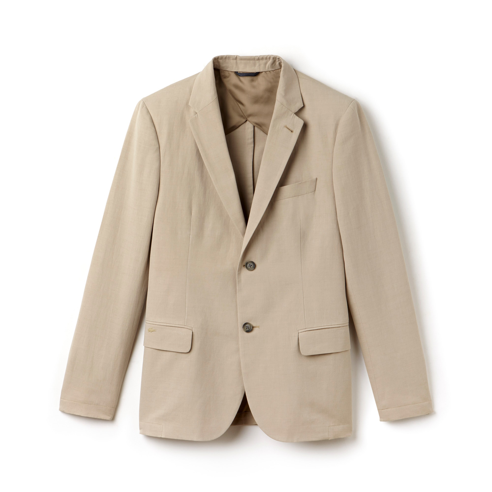 Men's Bicolor Cotton Linen Blend Suit Jacket
