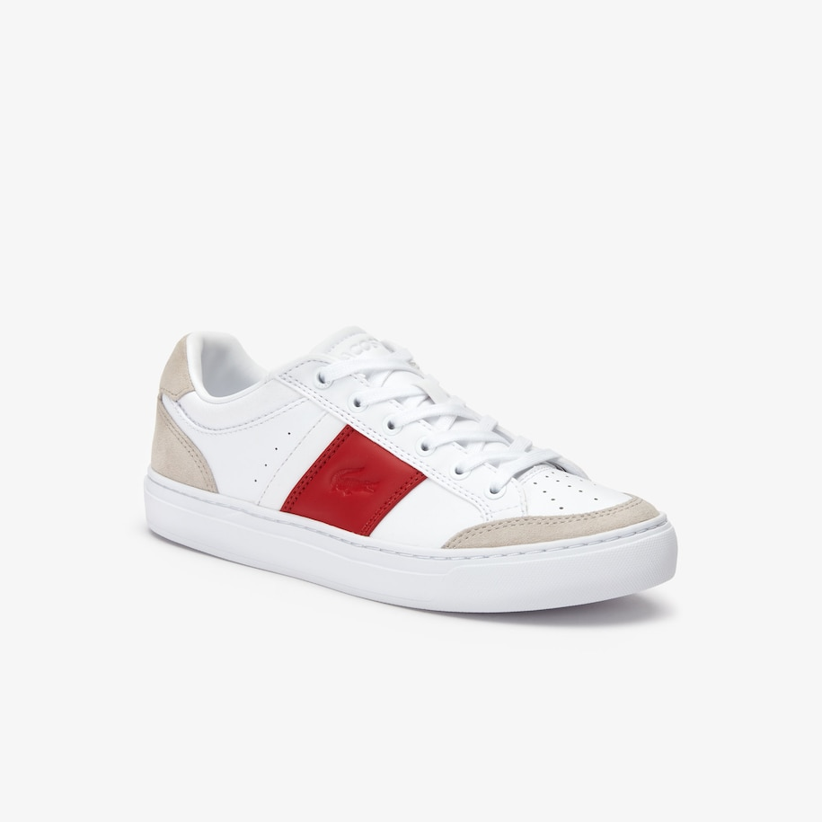 Men's Courtline Leather and Suede Sneakers