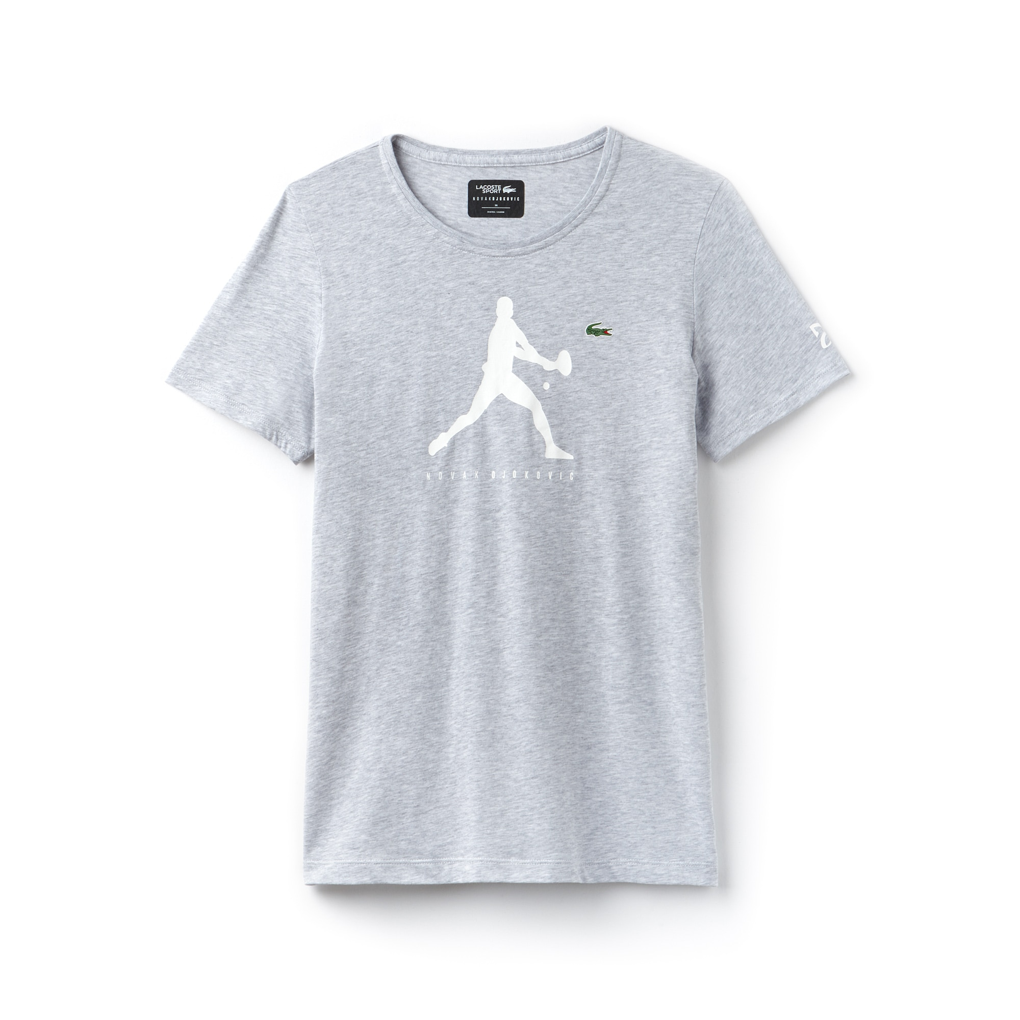 Women's SPORT Crew Neck Print Jersey T-shirt - Novak Djokovic Supporter Collection