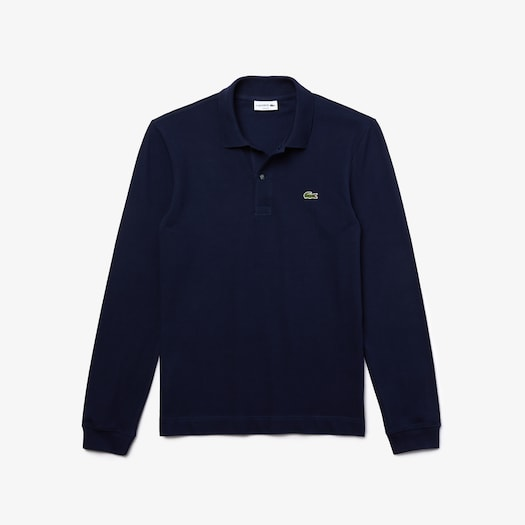 라코스테 Lacoste Mens Slim Fit Petit Pique Polo Shirt,Navy Blue - 166 (Selected colour)