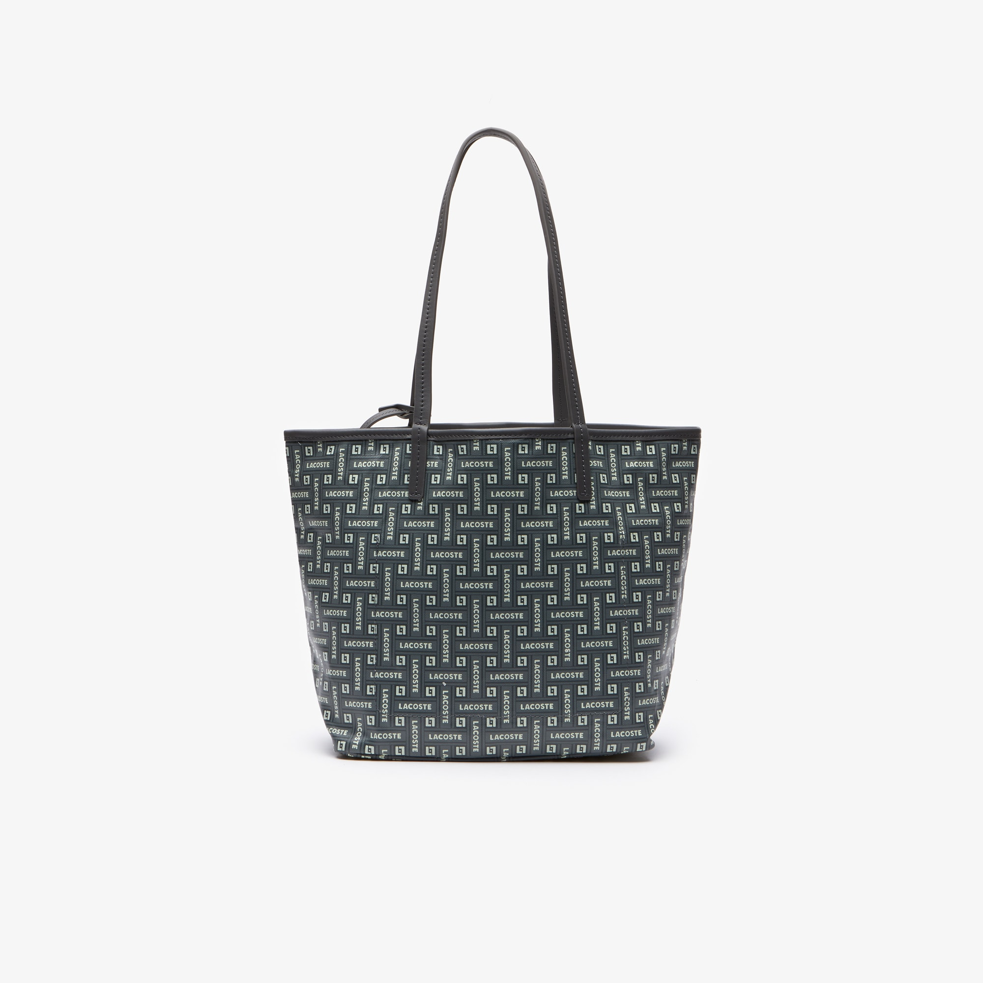 Women's Monogram Small Coated Cotton Canvas Tote Bag