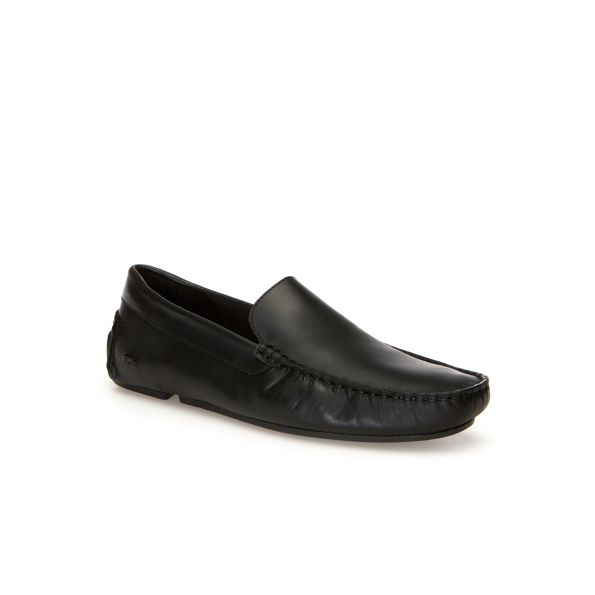 라코스테 모카신 Lacoste Mens Piloter Leather Moccasins,blk