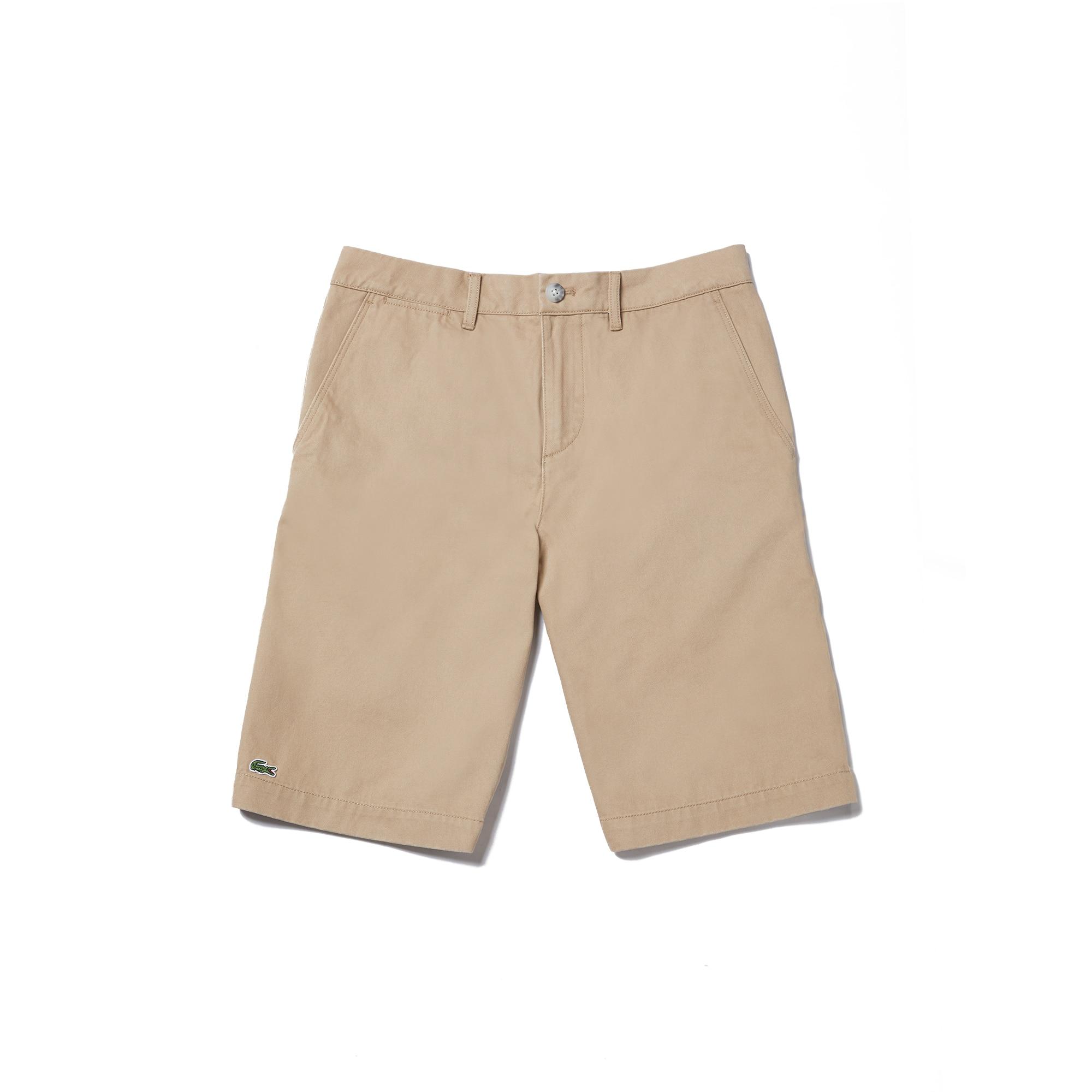 라코스테 Lacoste Mens Regular Fit Bermuda Shorts,kraft beige