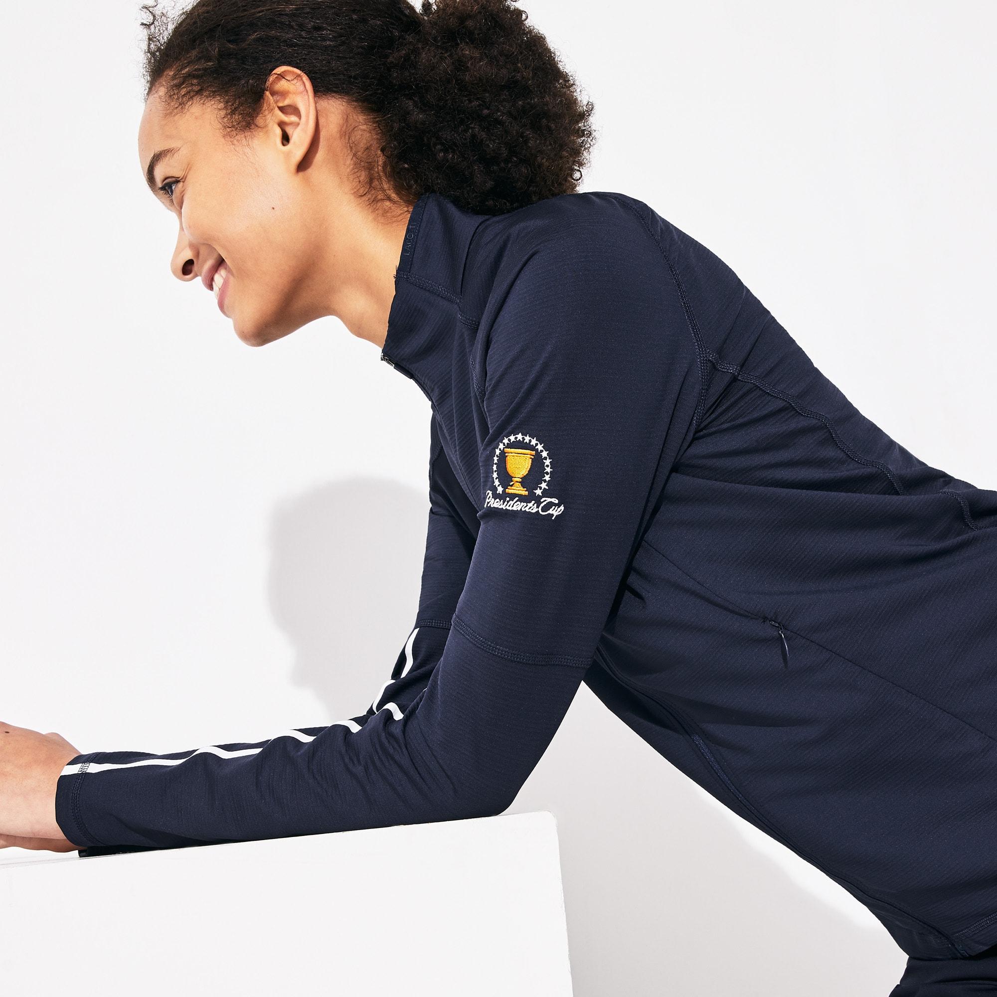 Lacoste Tops Women's Presidents Cup Breathable Stretch Zip Golf Sweatshirt