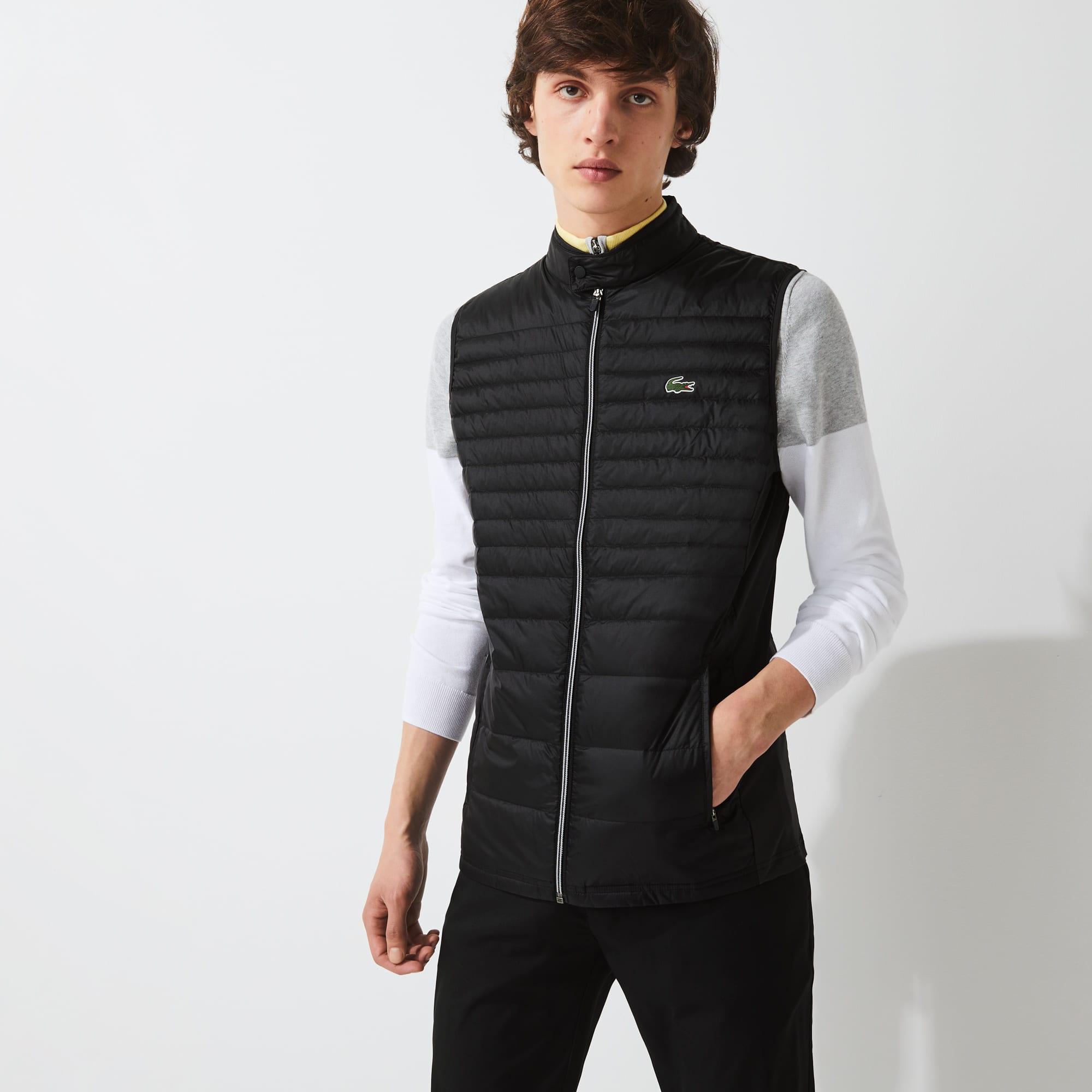 라코스테 맨 스포츠 경량 골프 조끼 Lacoste Mens SPORT Lightweight Water-Resistant Quilted Golf Vest