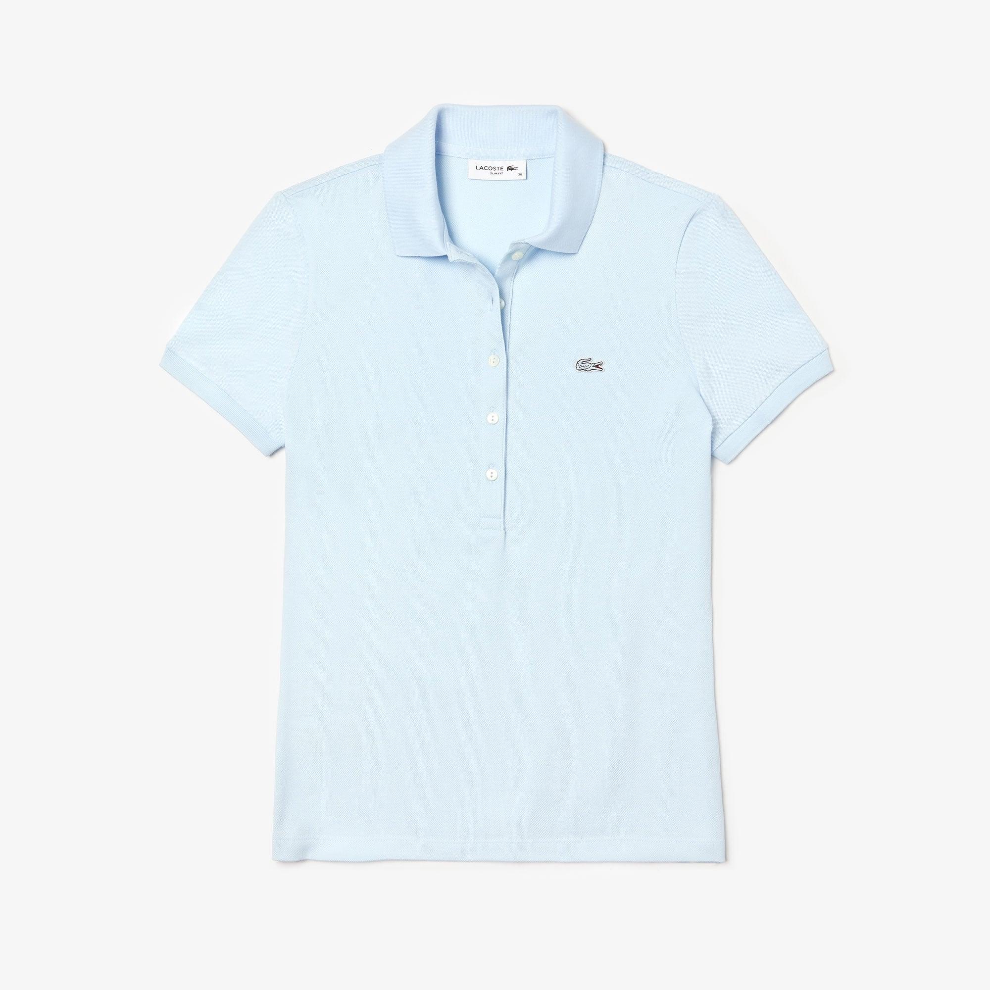 Women's  Slim Fit Stretch Mini Cotton Piqué Polo Shirt