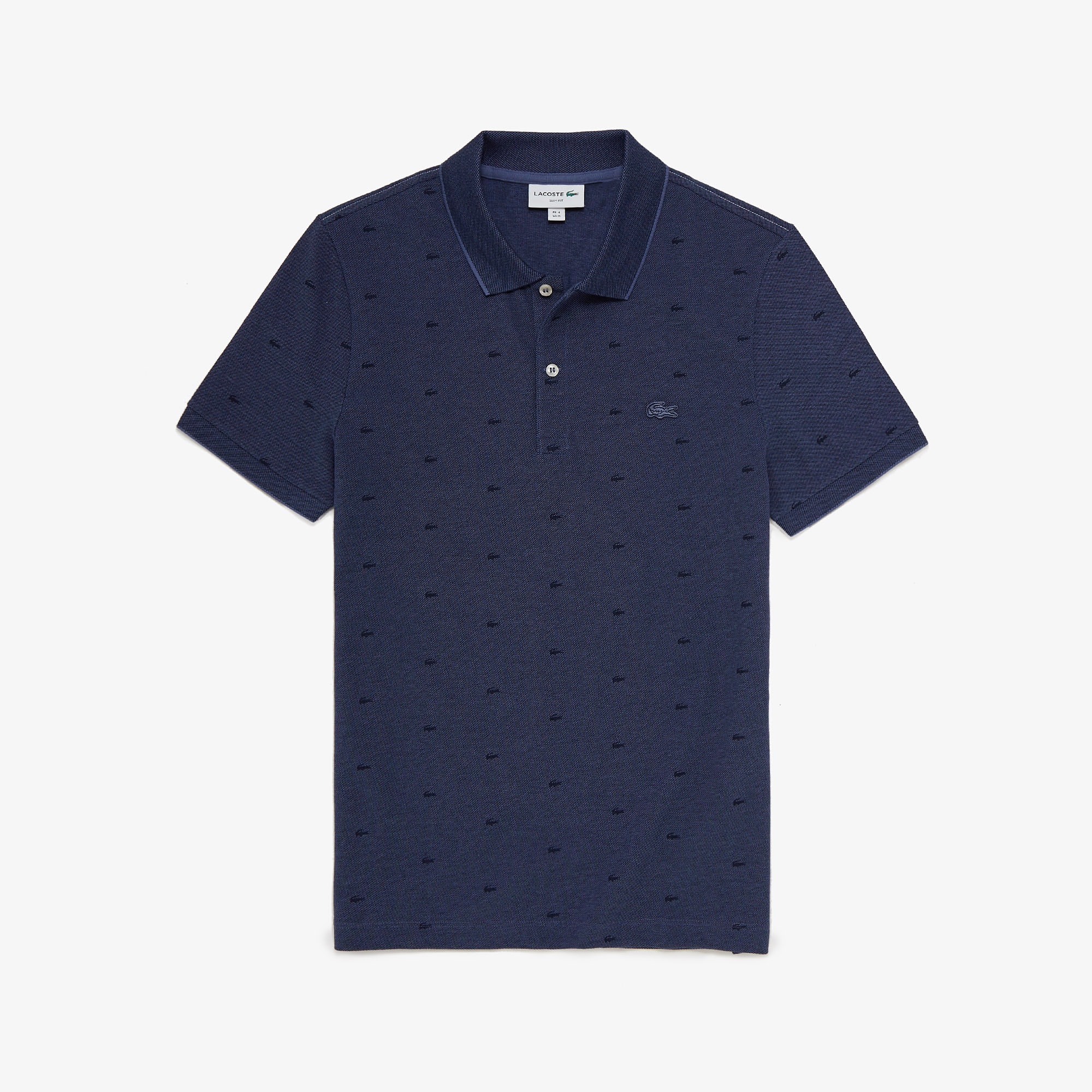 Lacoste Mens Micro Print Polo Shirt