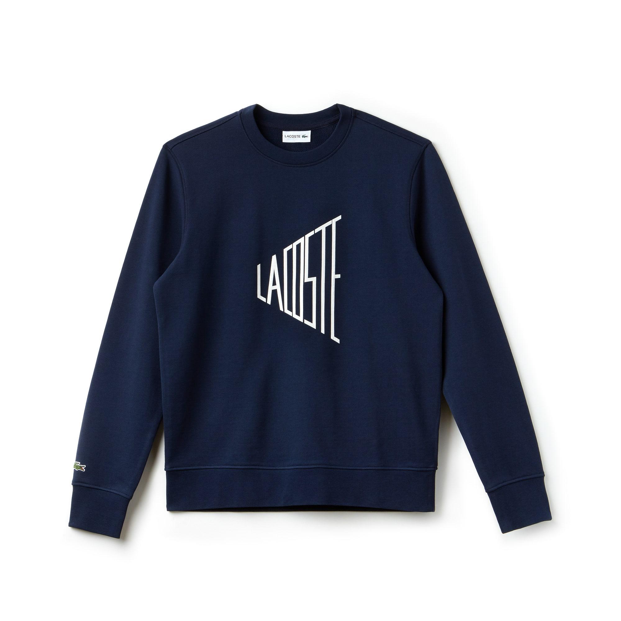 Men\u0027s Crew Neck Lettering Sweatshirt ...