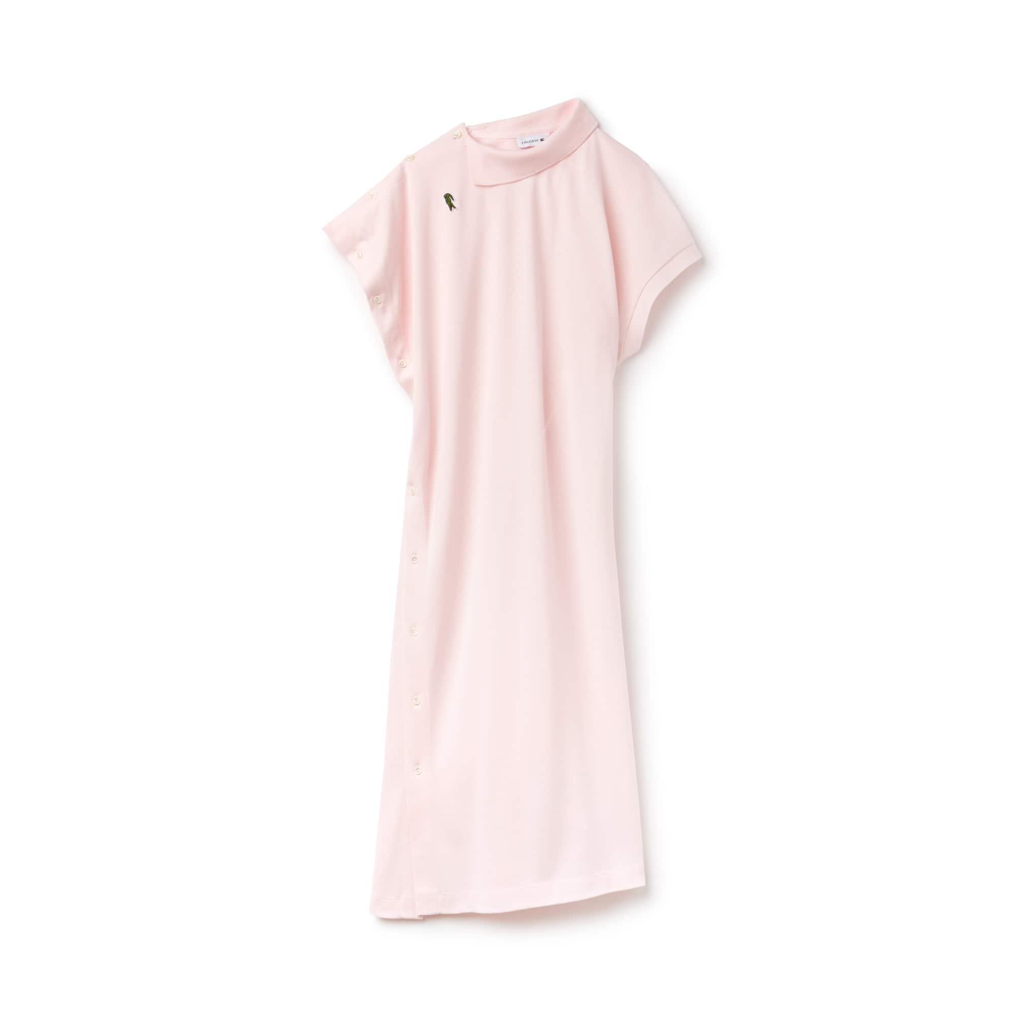 라코스테 피케 원피스 라이트 핑크 Lacoste Womens Fashion Show Asymmetrical Pique Polo Dress,flamingo