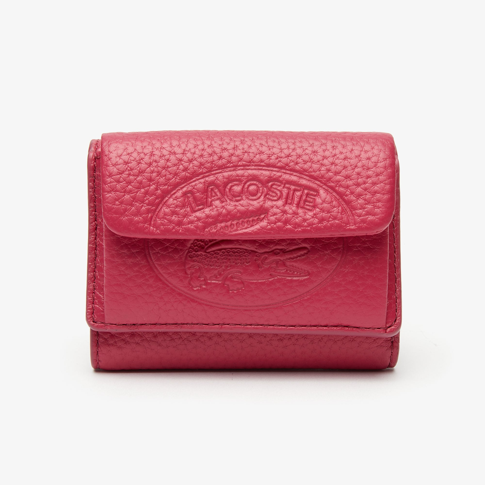 Women's Croco Crew Small Grained Leather Wallet