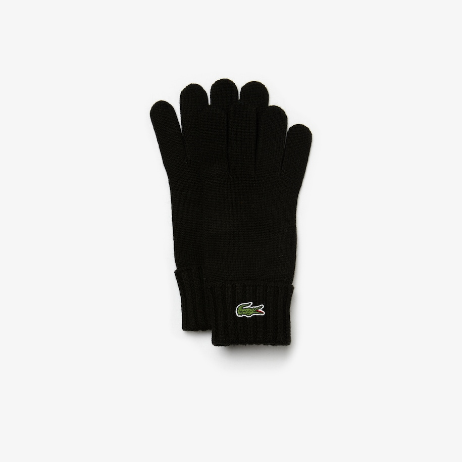 Men's Embroidered Crocodile Wool Gloves