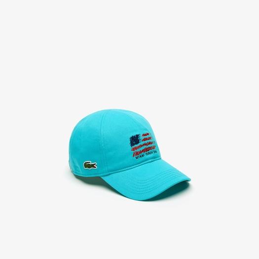 라코스테 Lacoste Mens SPORT Miami Open Edition Cap,Turquoise - XA4 (Selected colour)