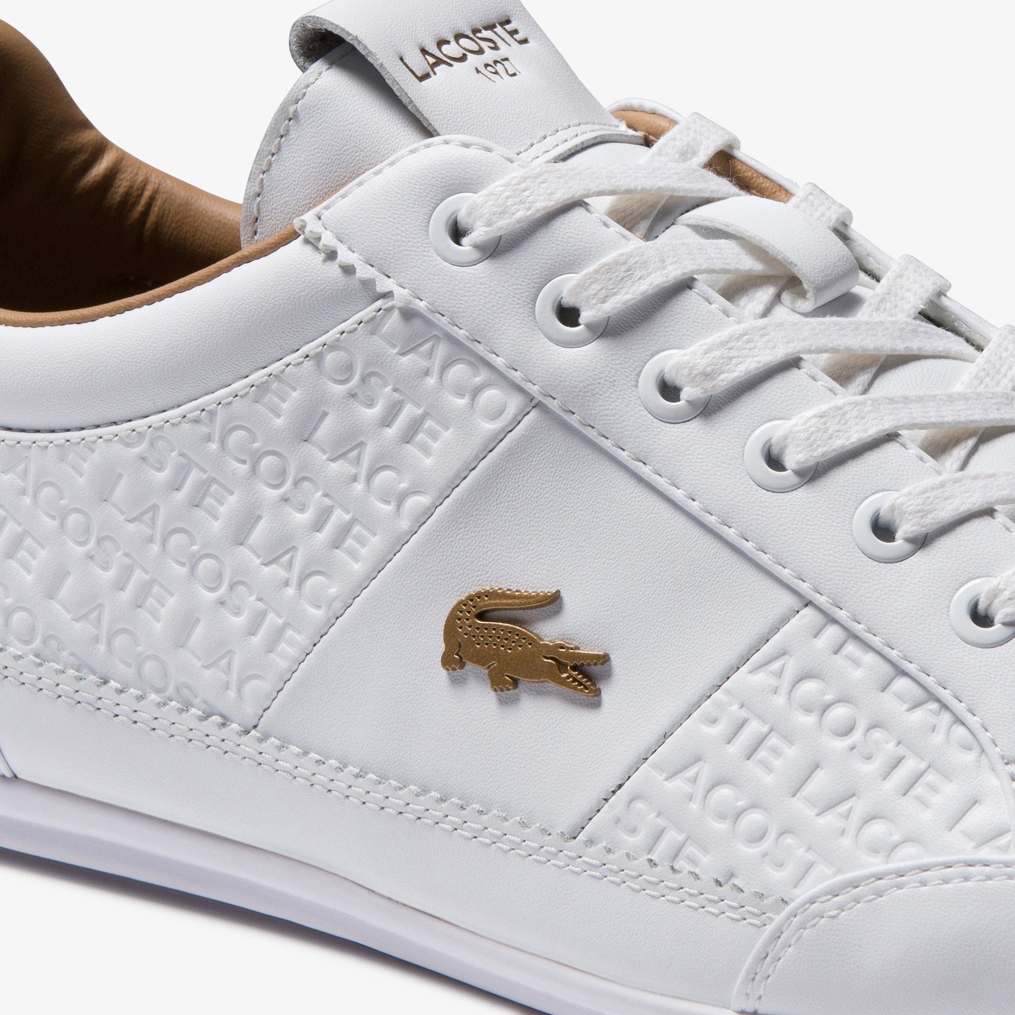 Men's Chaymon Debossed Leather and Synthetic Sneakers
