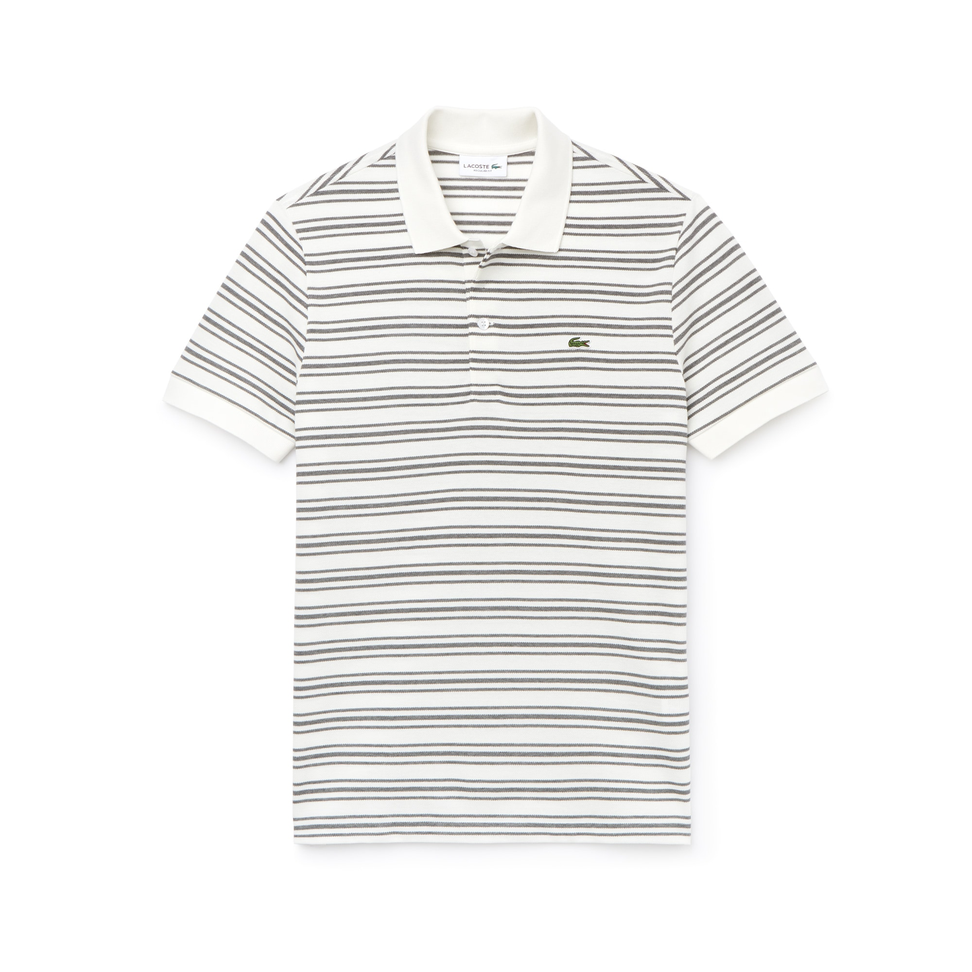 Men's Regular Fit Striped Cotton Petit Piqué Polo