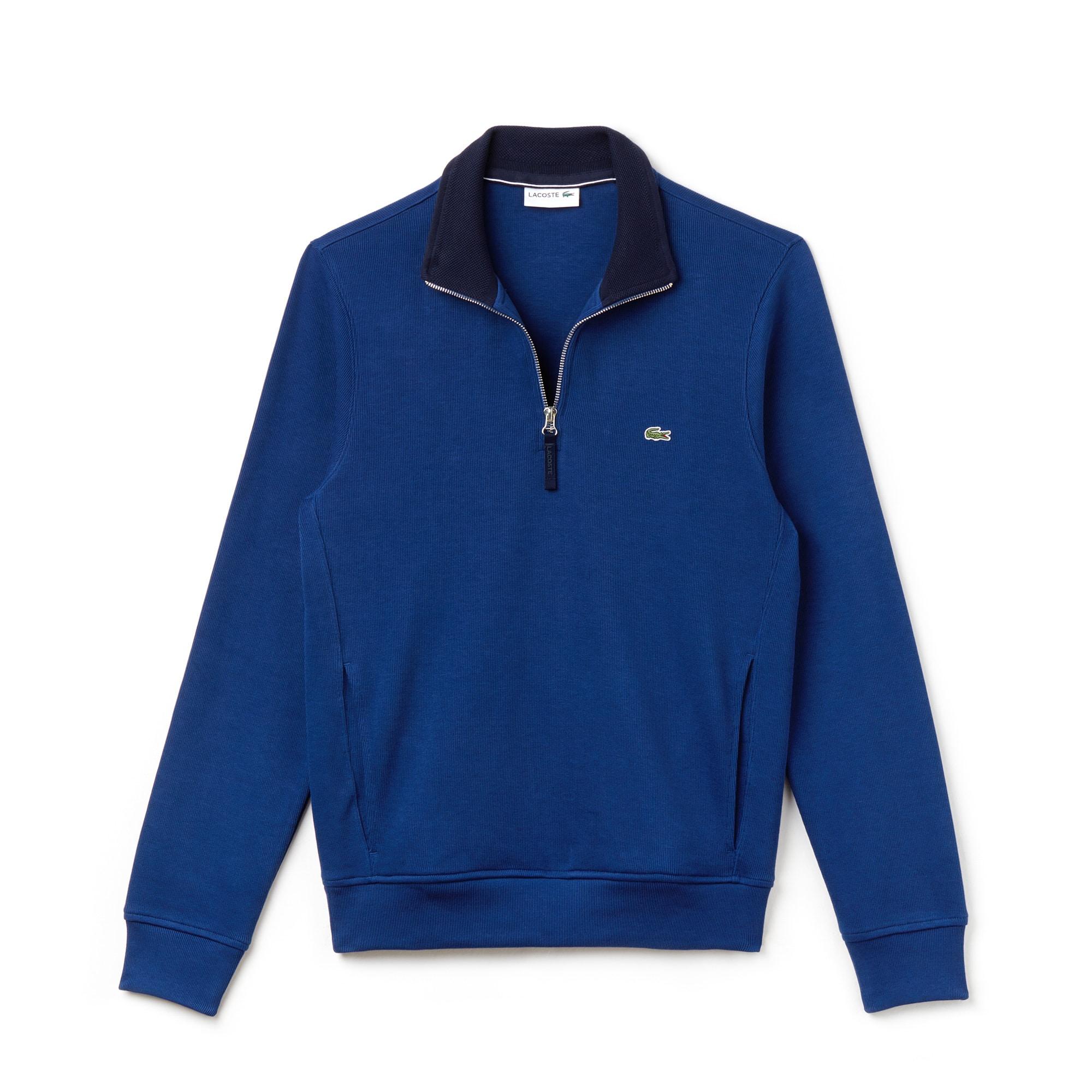 Men's Stand-Up Collar Ribbed Sweatshirt