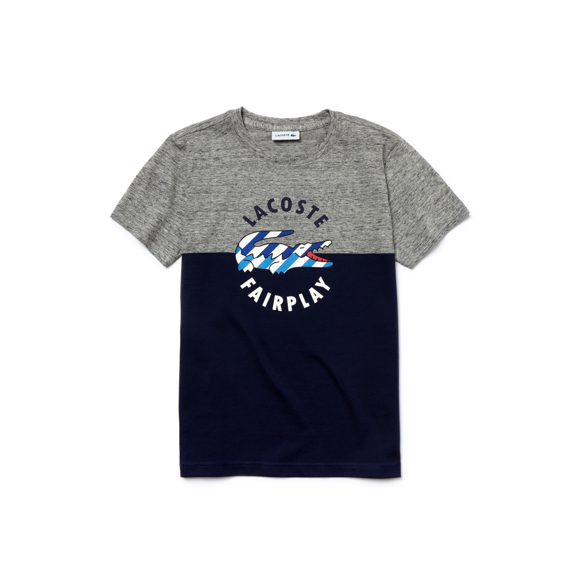 Boy's Jersey Crocodile Print Crew Neck T-Shirt