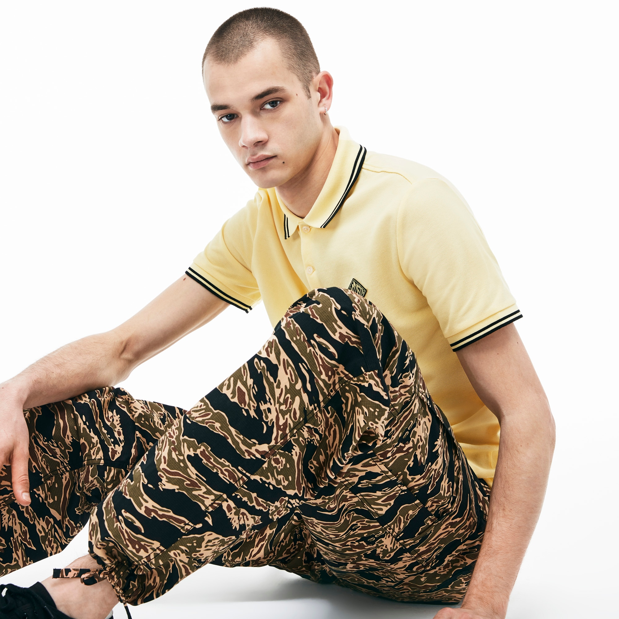 Men's Live Camouflage Cargo Pants by Lacoste