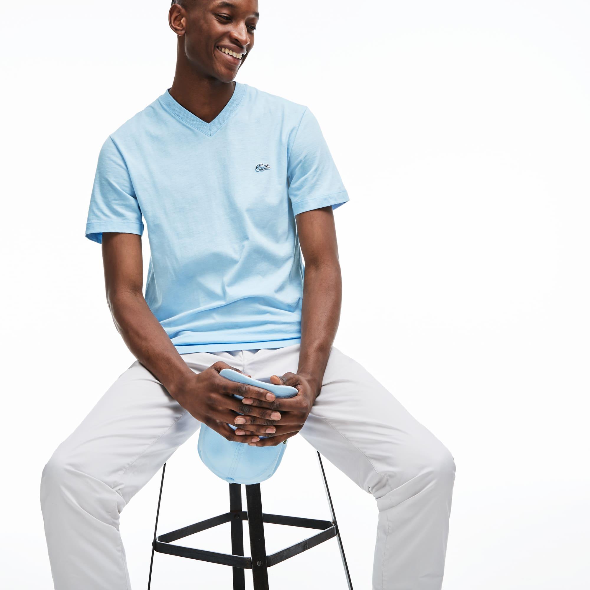 Lacoste Men's V-Neck Cotton T-shirt