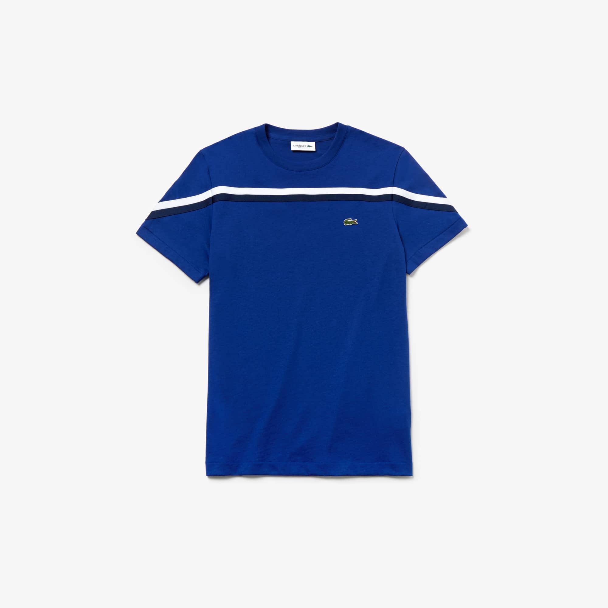 라코스테 반팔티 크루넥 코튼 티셔츠  Lacoste Mens Crew Neck Cotton T-shirt,Navy Blue