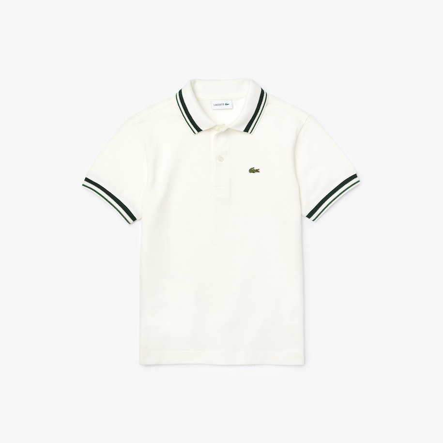 Boys' Contrast Detail Cotton Piqué Polo