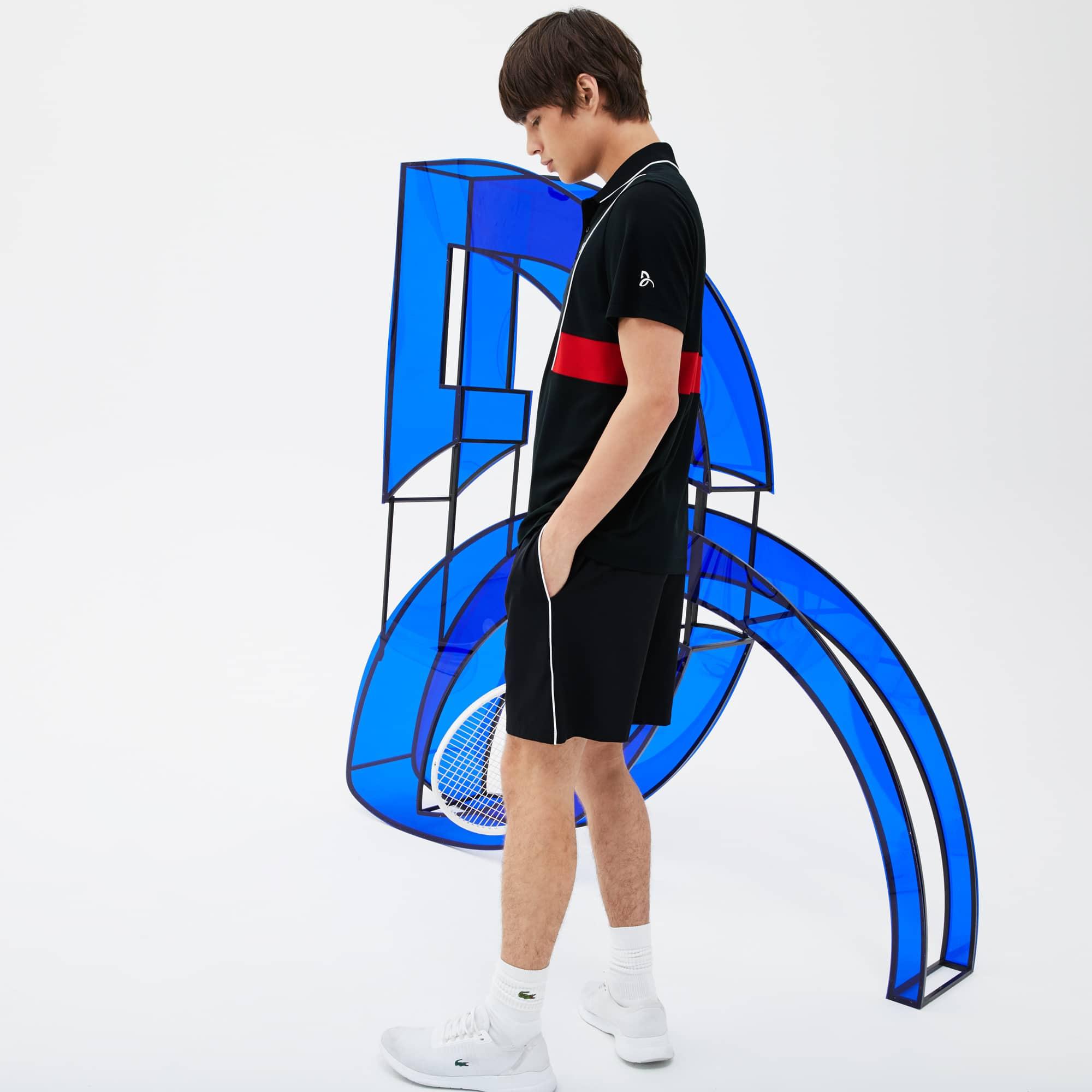 라코스테 Lacoste Mens SPORT Novak Djokovic Stretch Technical Shorts