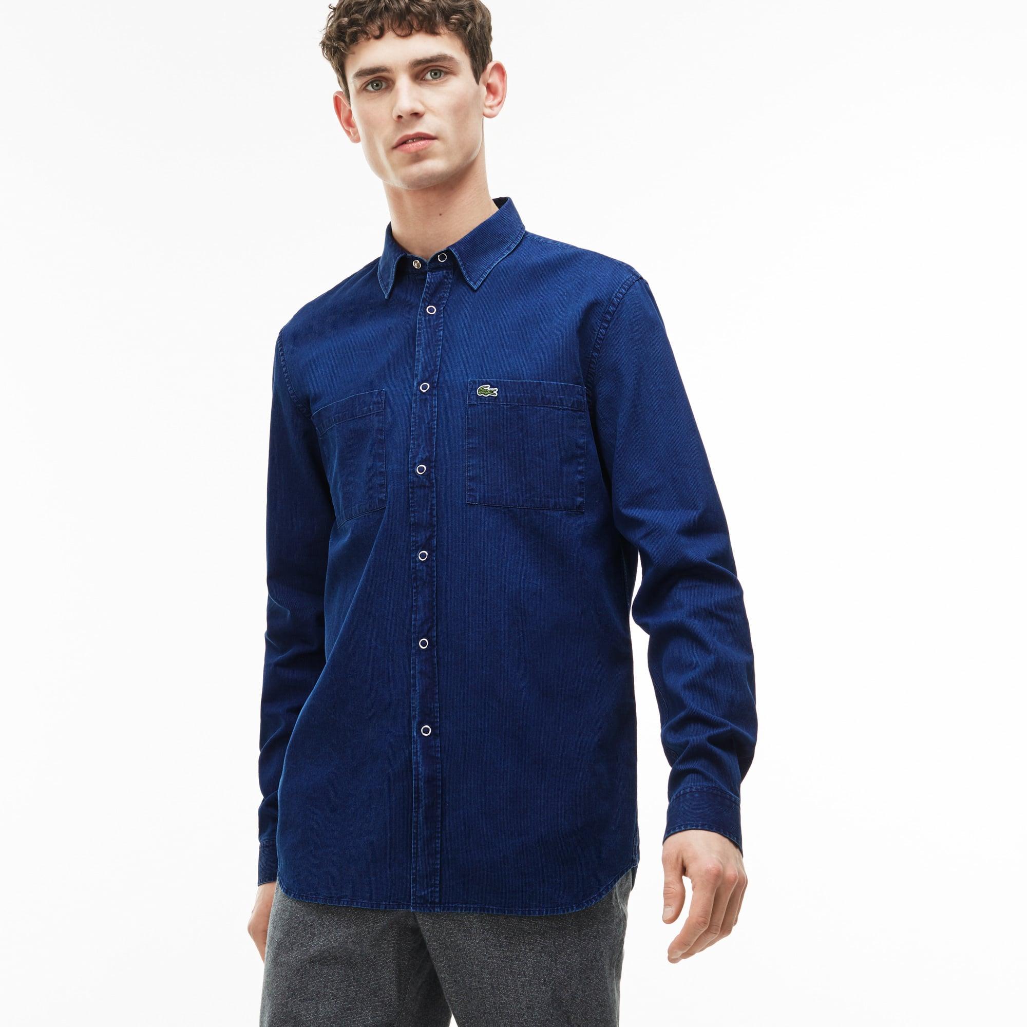 Men's Regular Fit Denim Shirt With Pockets