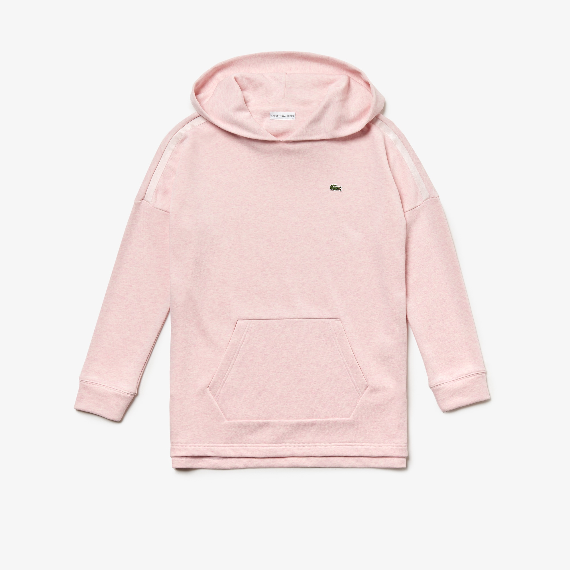 라코스테 Lacoste Womens SPORT Hooded Fleece Tennis Sweatshirt,pink / pink