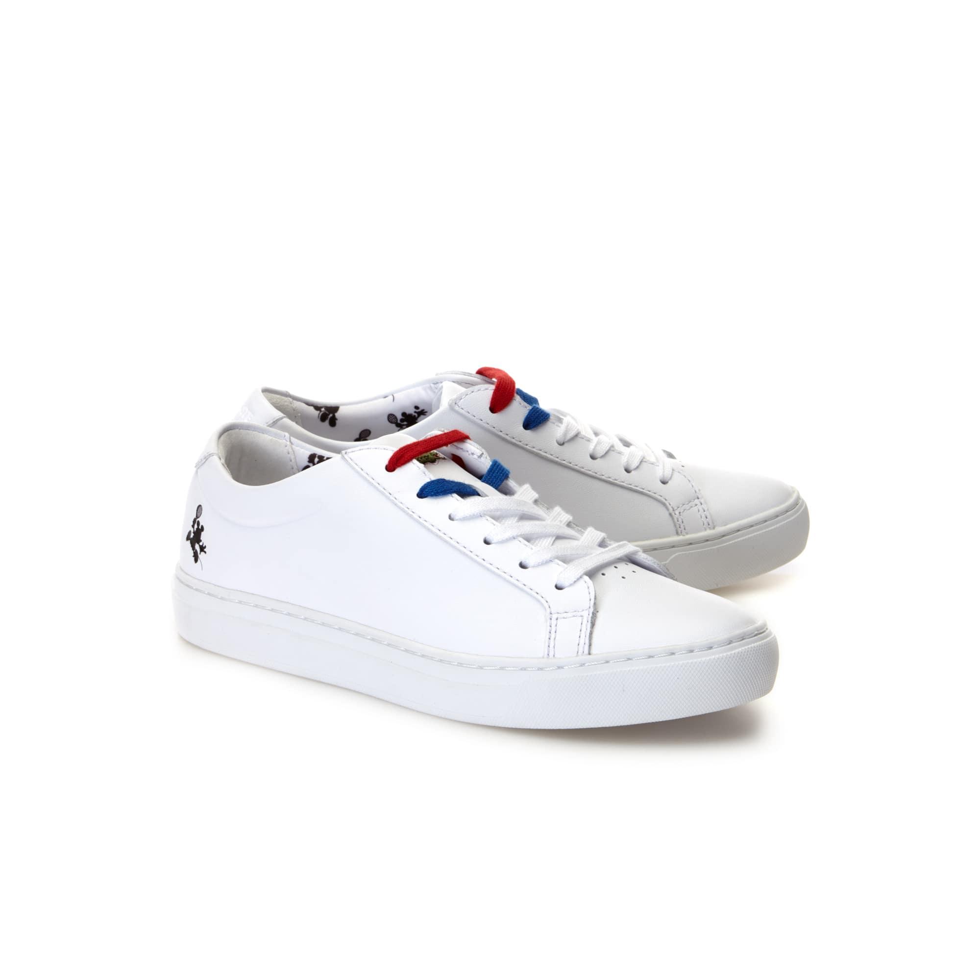 12 Femme Disney Cuir Imprimé Lacoste L Collab Sneakers En 12 awg4dqE