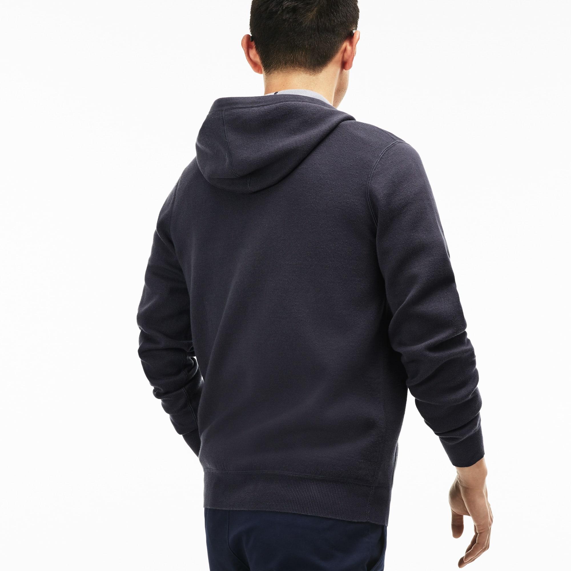 En Zippé À Sweatshirt Coton Capuche UniLacoste KTl1uFcJ3