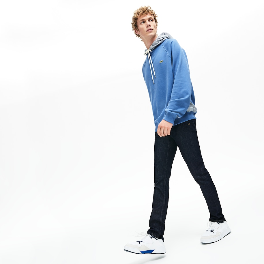 Jeans Slim Fit Con Cinco Bolsillos En Denim Stretch Para Hombre Lacoste