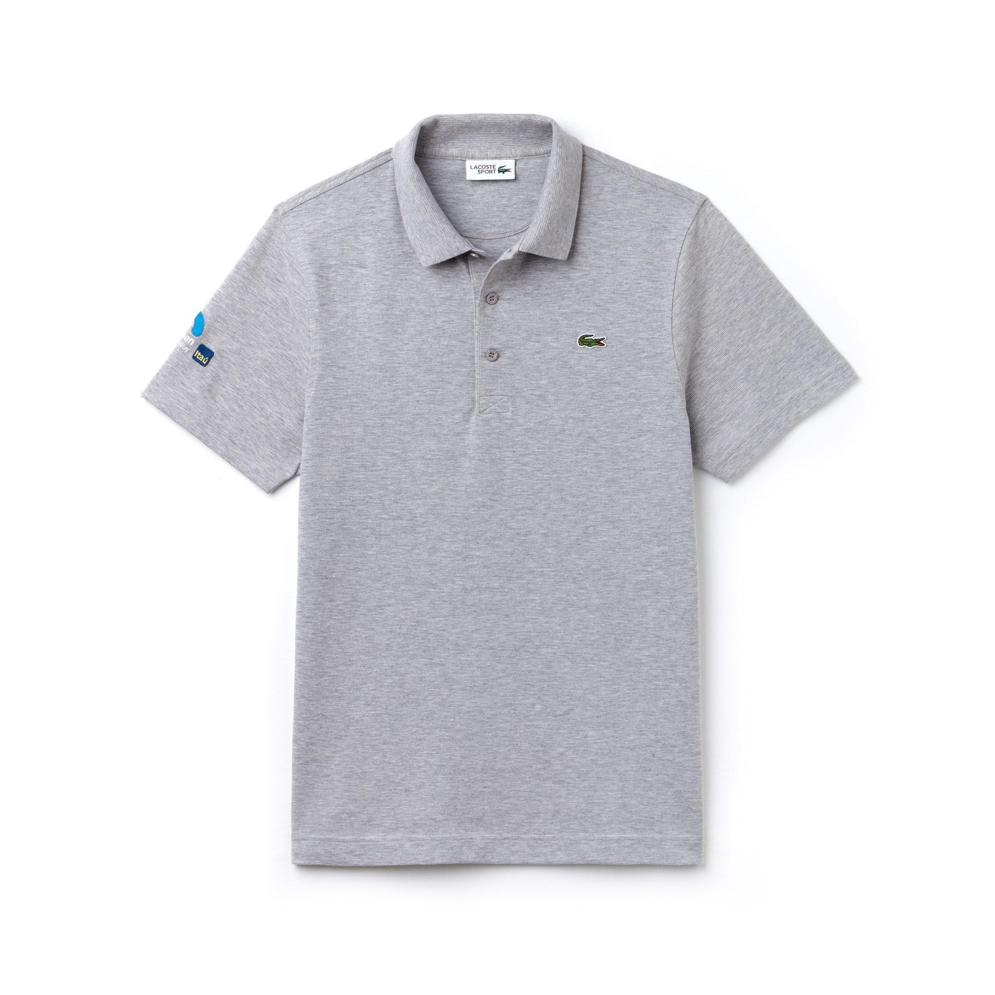 라코스테 스포츠 반팔 카라티 Lacoste Mens SPORT Miami Open Ultra-Light Cotton Tennis Polo,silver grey chine