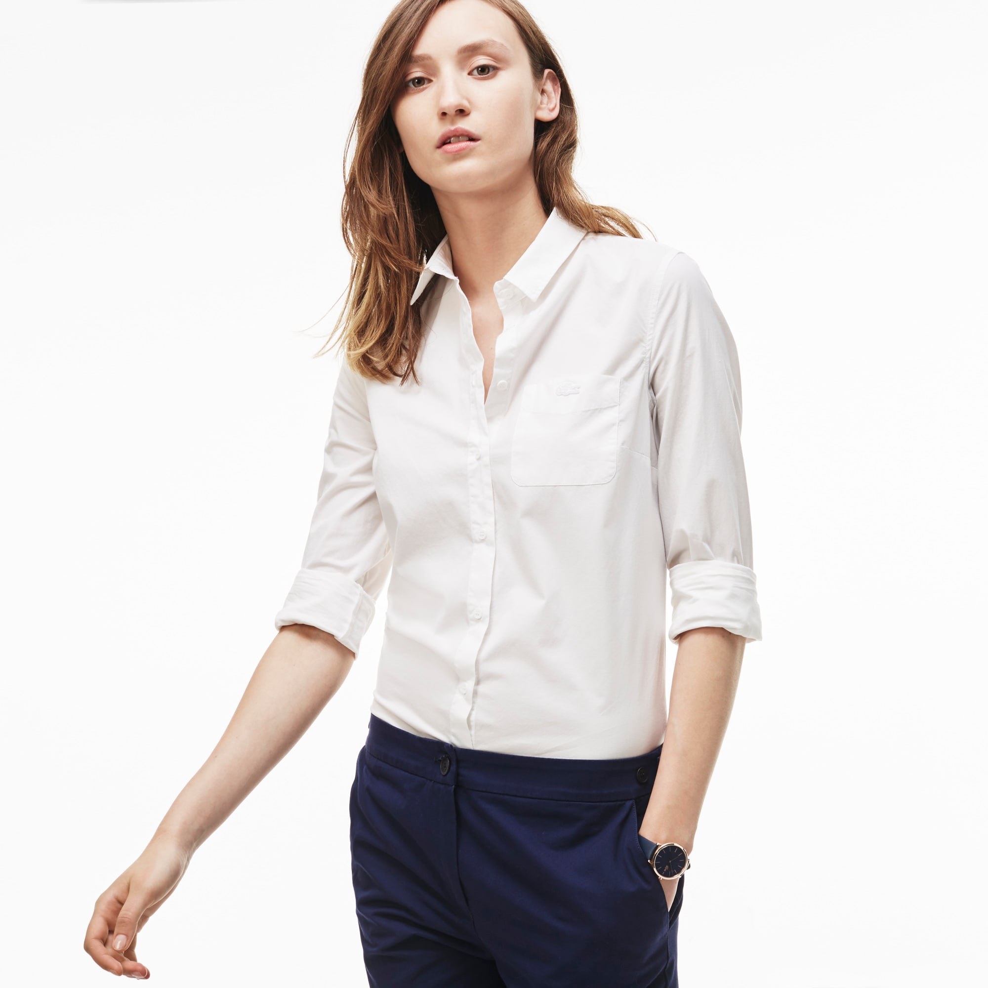 Women's Slim Fit Stretch Poplin Shirt