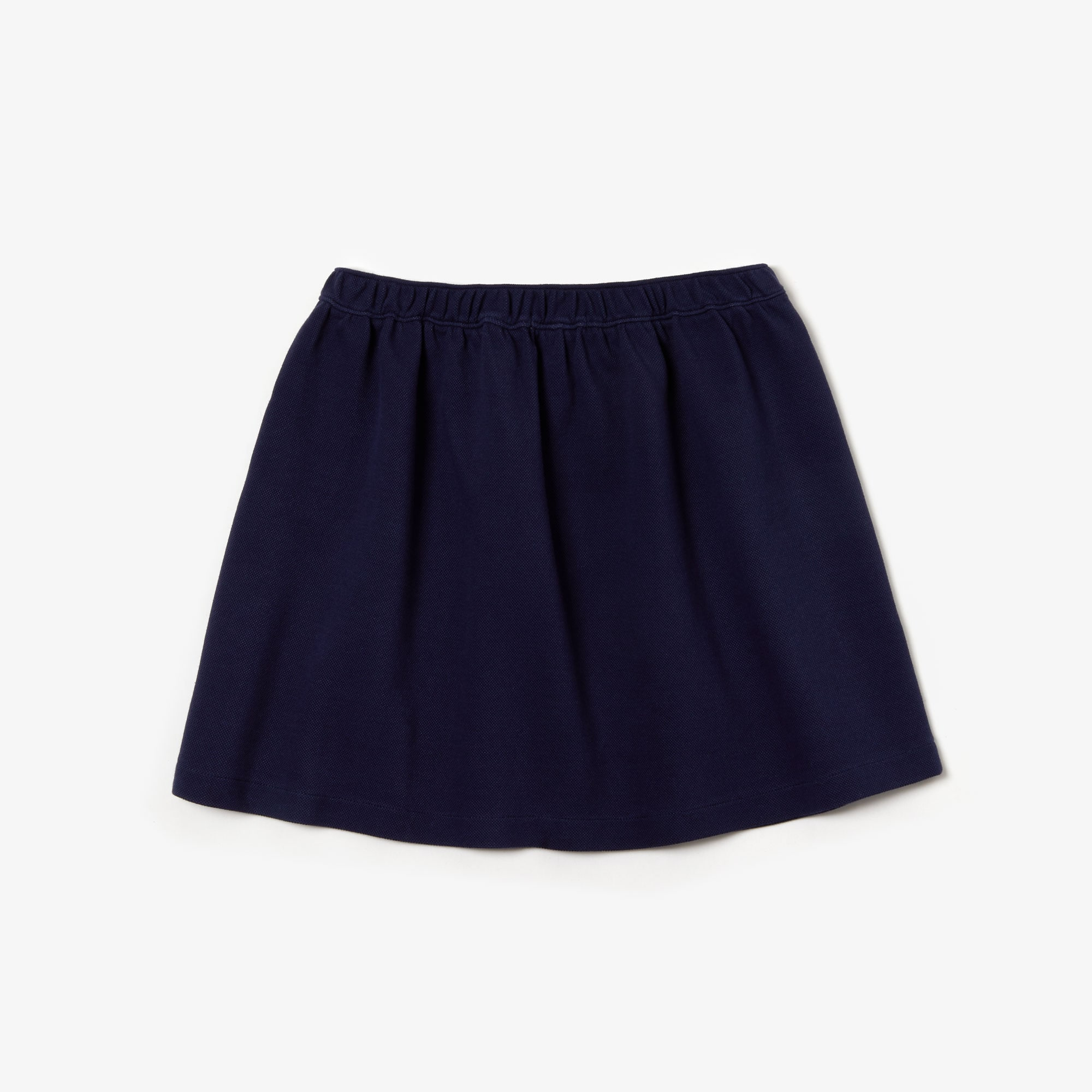 Girls' Colored Snap Cotton Piqué Skater Skirt