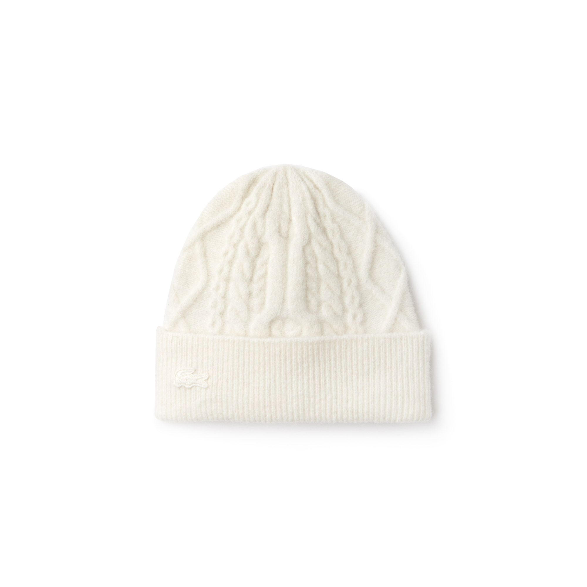 Women's Turned Edge Alpaga And Wool Cable Knit Beanie