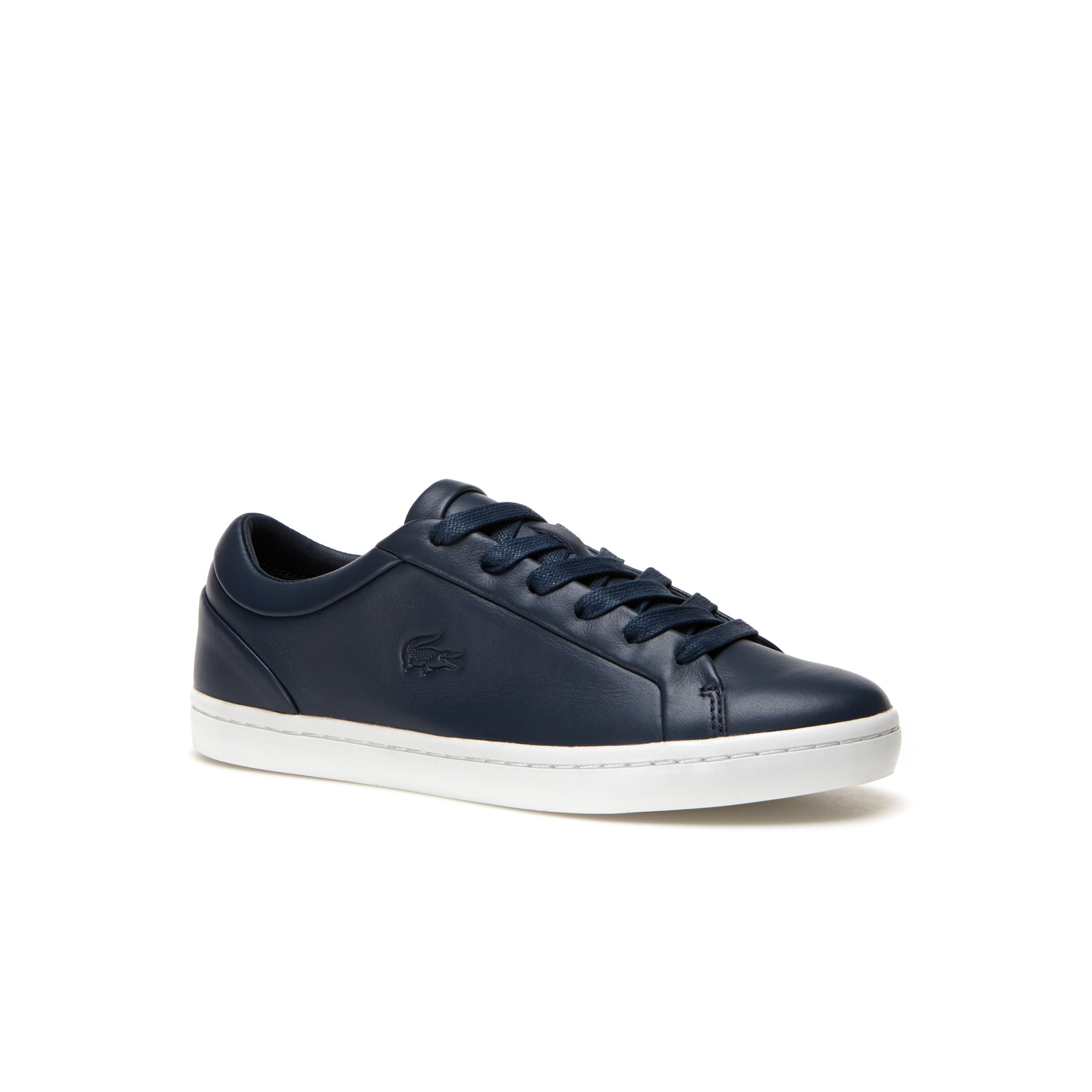 Lacoste Straightset premium leather trainers Q8614 shoes online hot sale