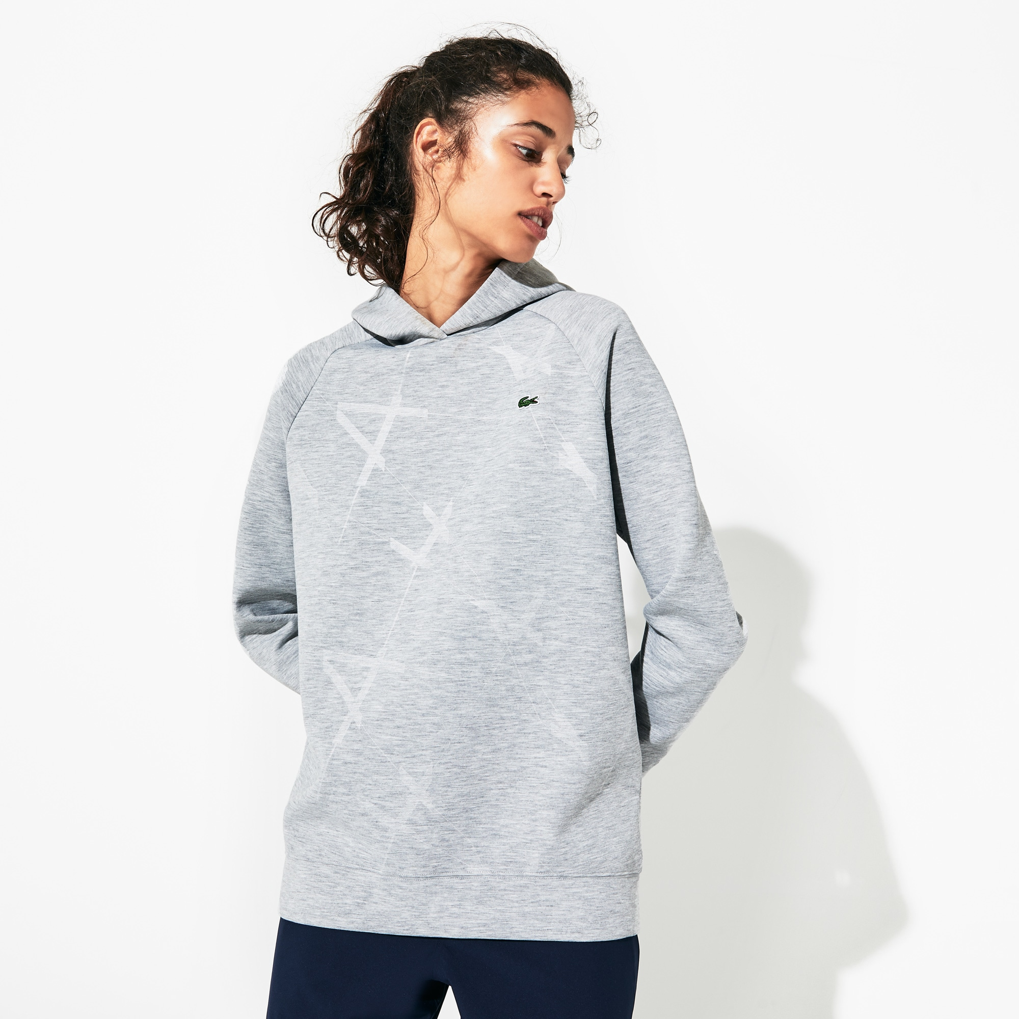 Women's SPORT Printed Fleece Tennis Sweatshirt