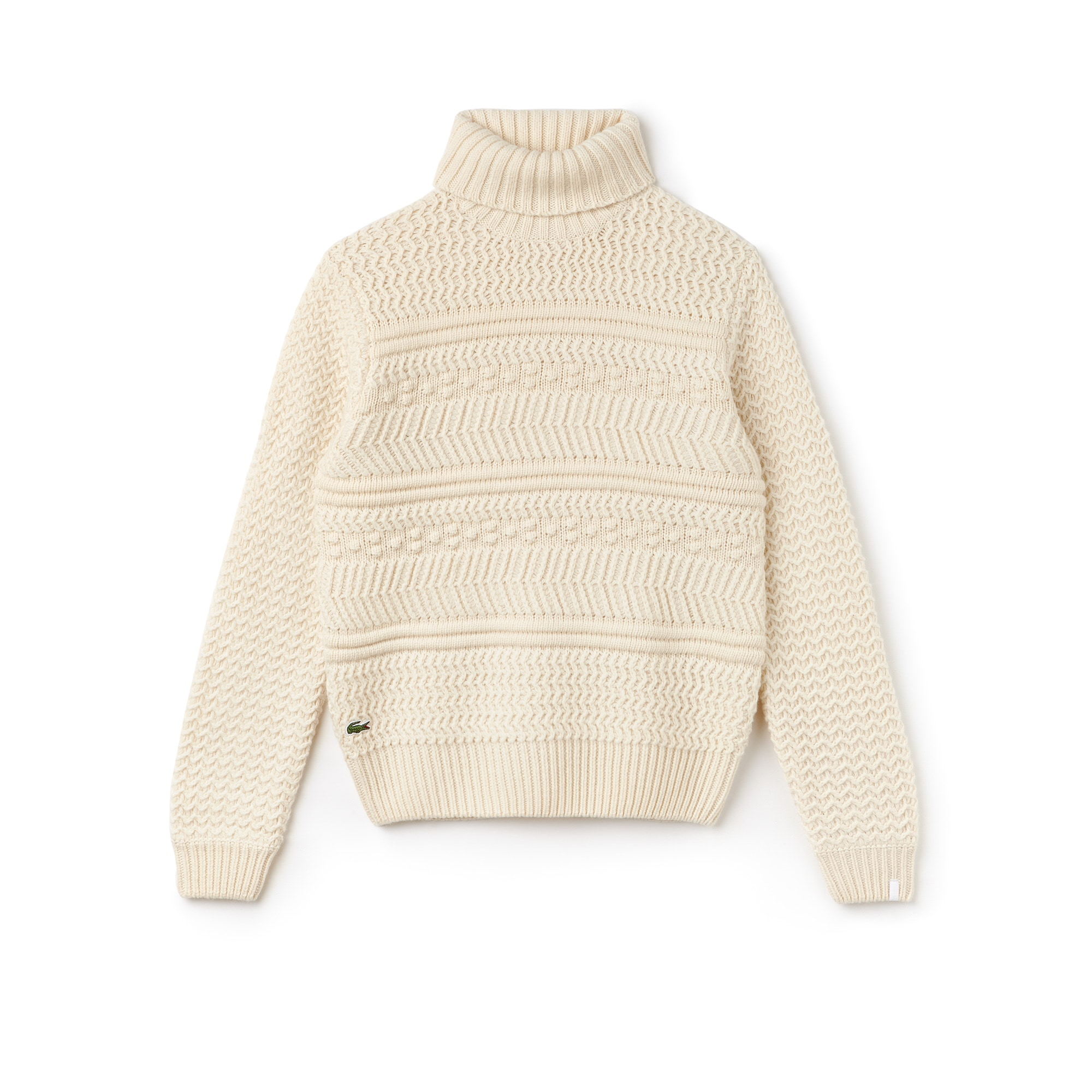 Men's LIVE Cable Knit Wool Turtleneck Sweater