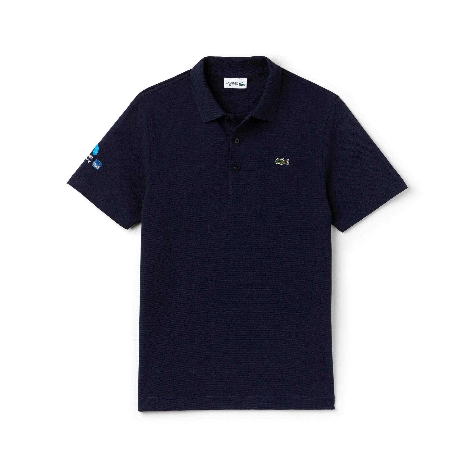 라코스테 스포츠 반팔 카라티 Lacoste Mens SPORT Miami Open Ultra-Light Cotton Tennis Polo,navy blue